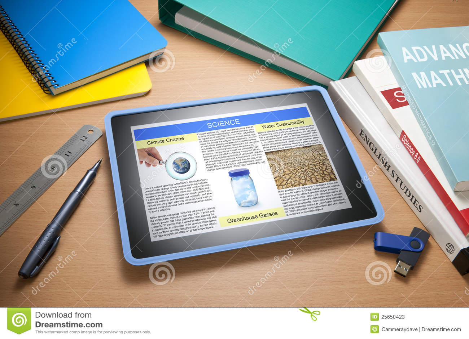 Tecnologia da instrução de escola da tabuleta