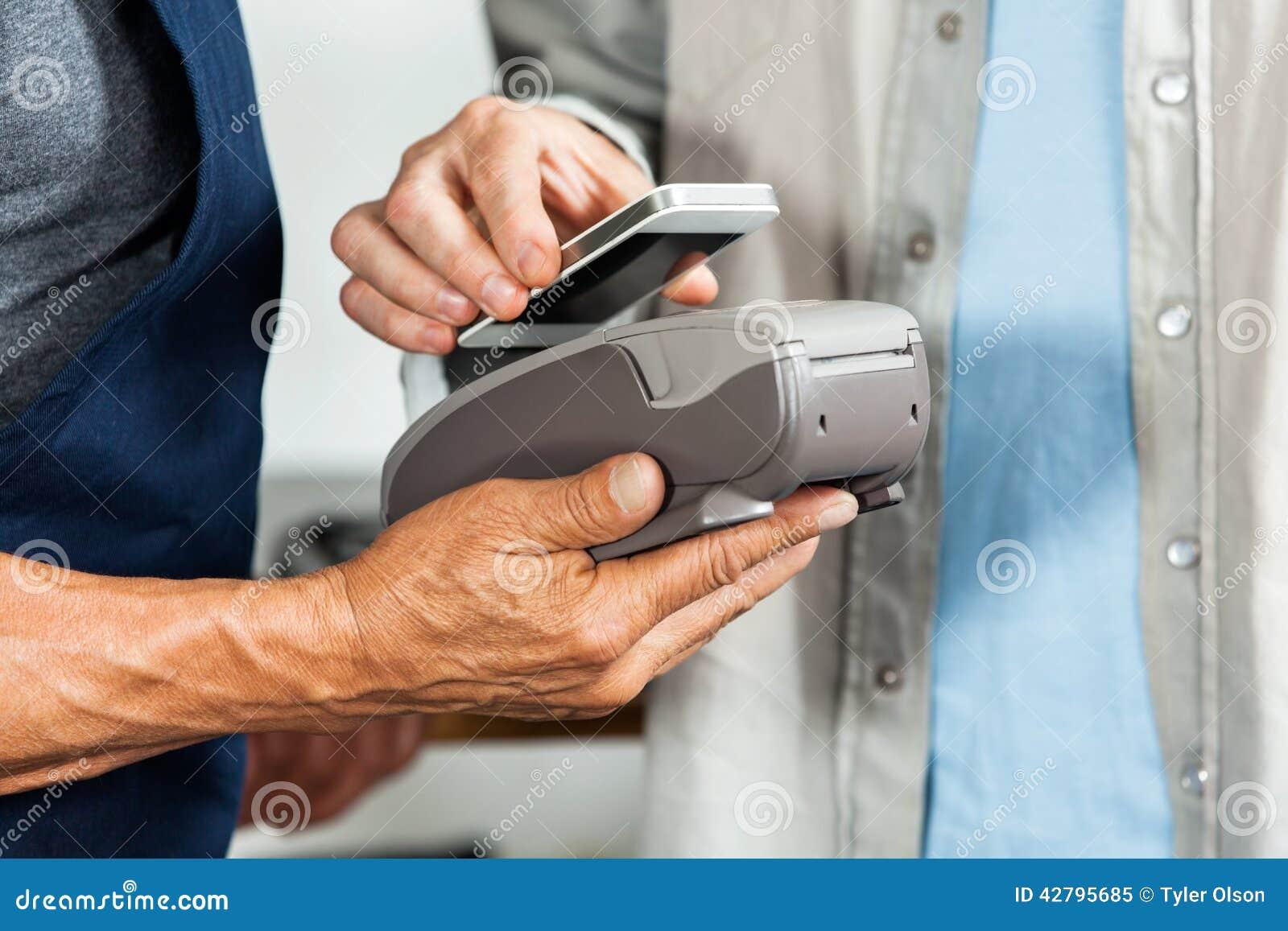 Tecnologia de NFC de Accepting Payment Through do vendedor