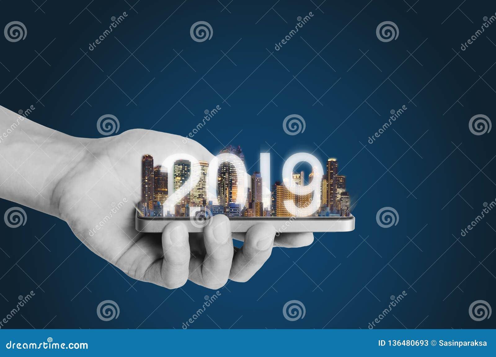 Tecnologia di realtà aumentata 2019, nuova tecnologia e nuovo concetto di investimento aziendale di tendenza