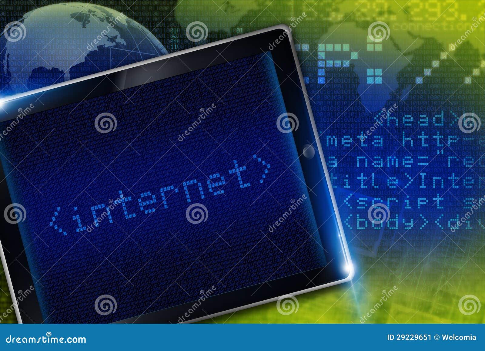 Download Tecnologia do Internet ilustração stock. Ilustração de código - 29229651