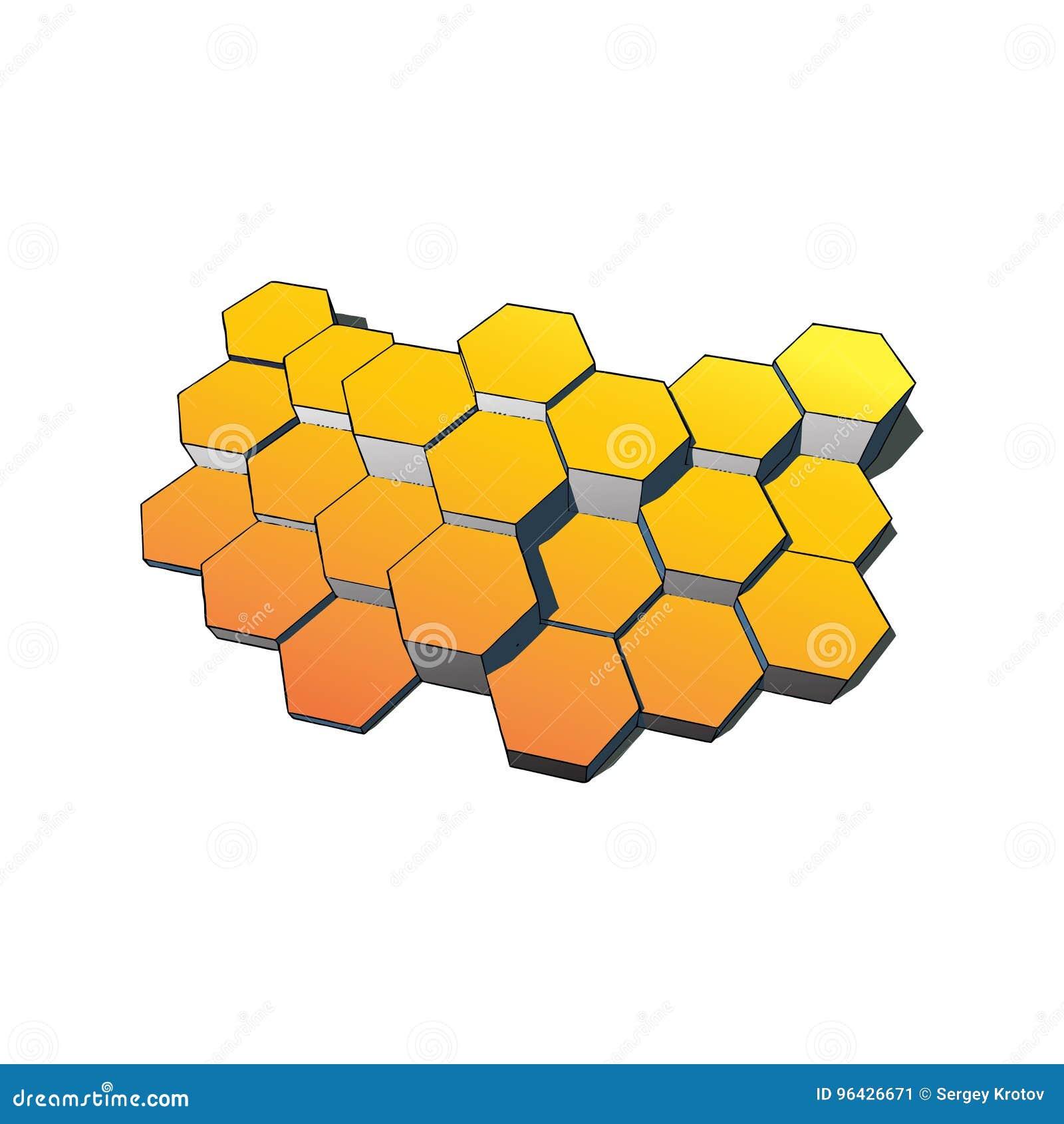 Tecnologia dos hexágonos e fundo de uma comunicação Ilustração EPS10 do vetor