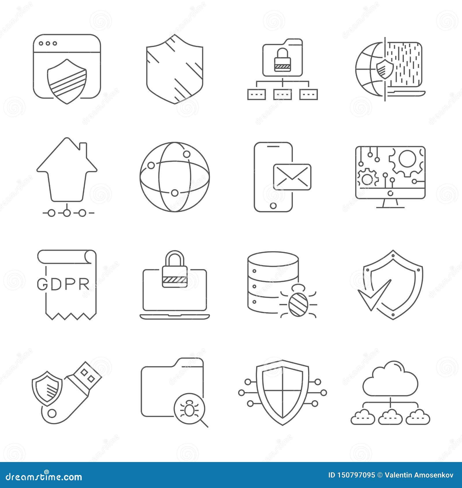 Tecnologia e trabalhos em rede de Digitas Segurança, proteção, inovação no Cyberspace Código de barras editável Eps 10