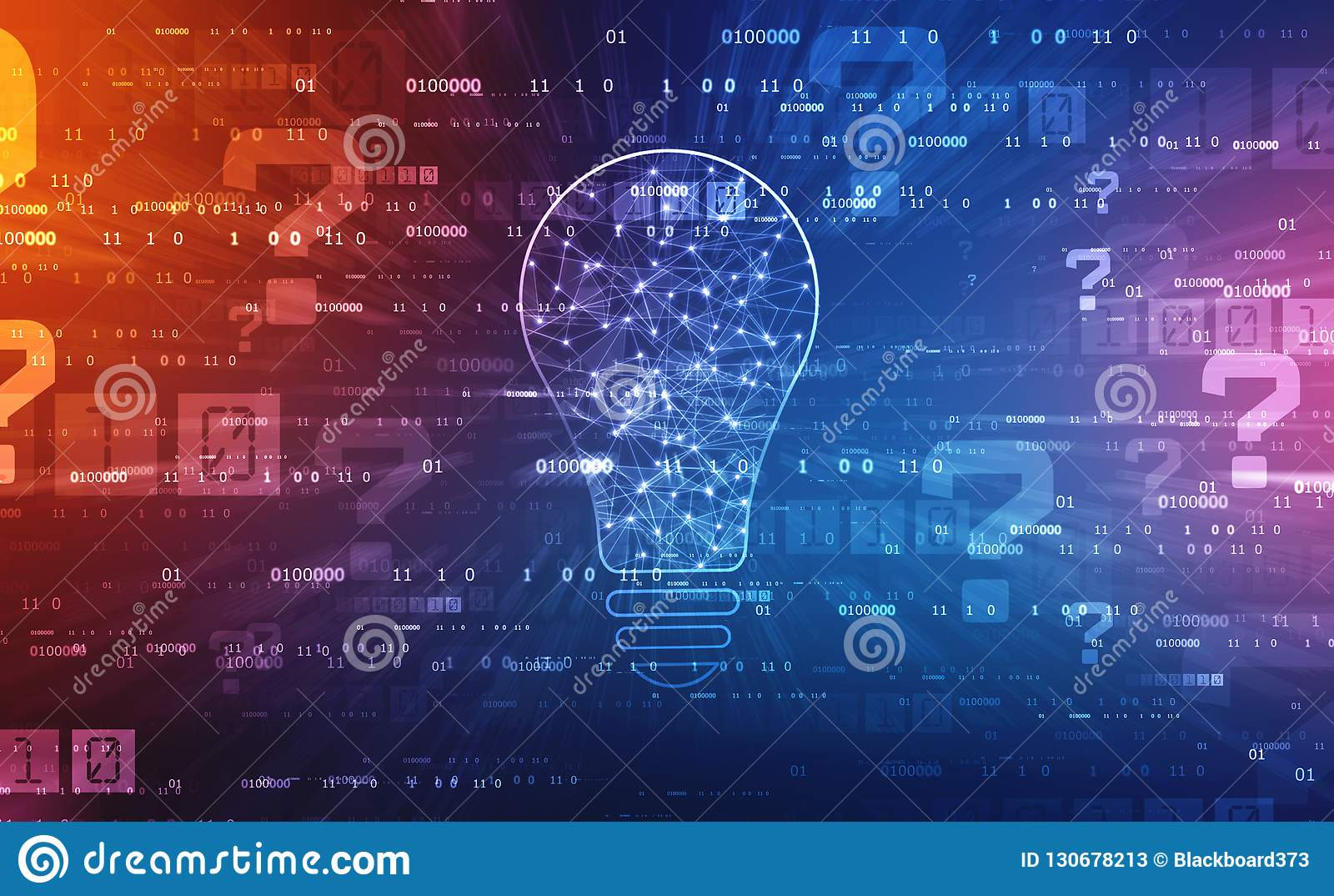 Tecnologia futura do bulbo, fundo da inovação, conceito criativo da ideia