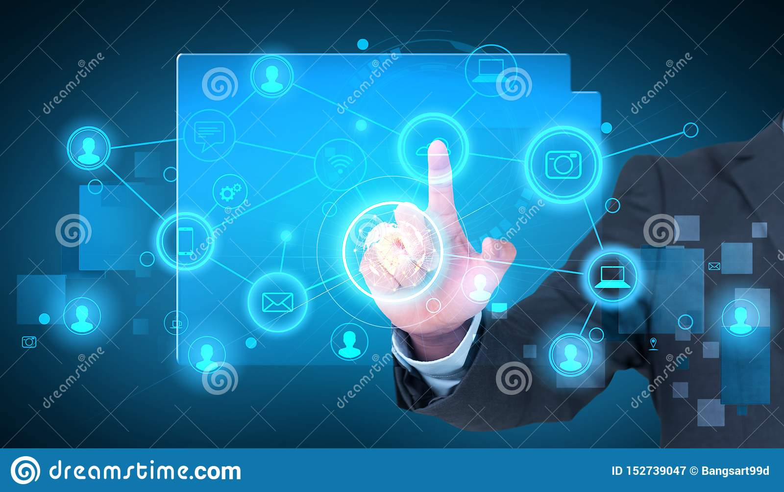 Tecnologia olografica di tocco del telefono cellulare