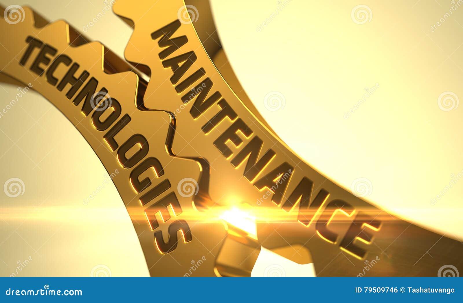Tecnologie di manutenzione sugli ingranaggi dorati 3d