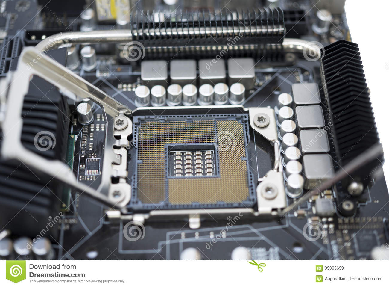 Tecnology Socket LGA 1366 For Cpu On Motherboard Computer