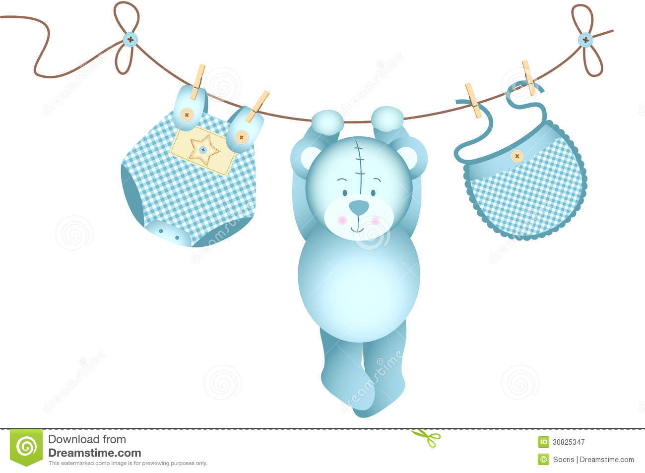 Baby boy teddy bear clip art - photo#26