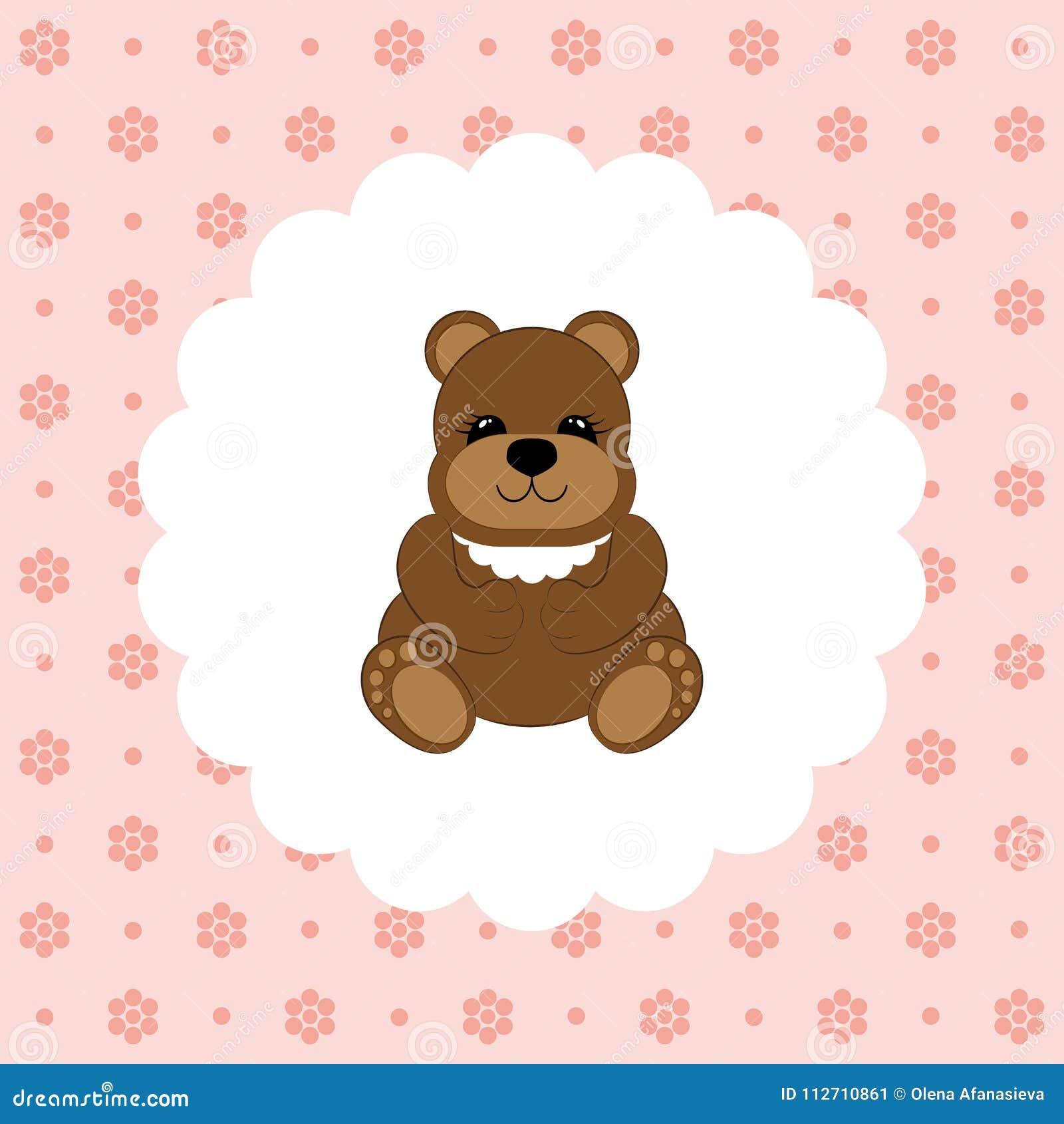 teddy bear baby vector flat stock illustration illustration of