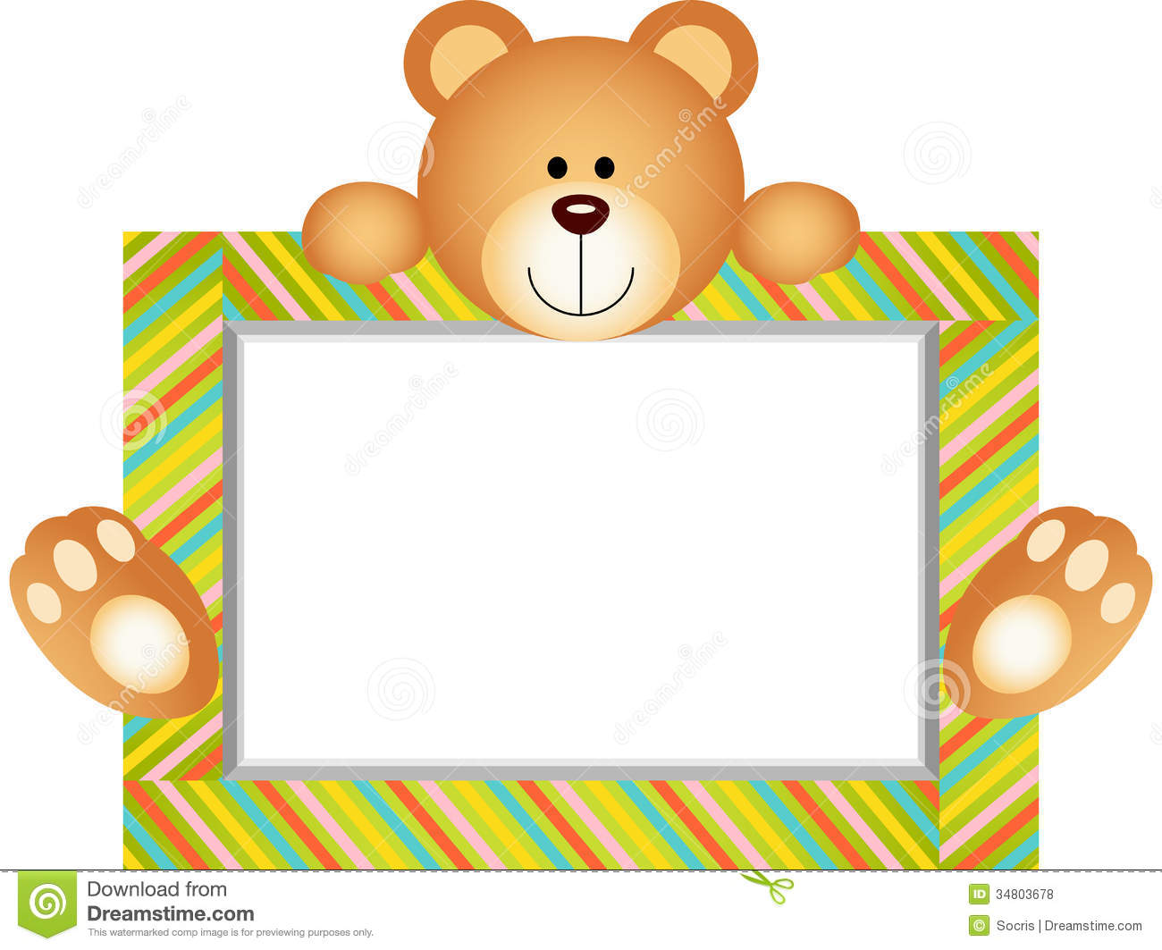 Teddy bear with blank label stock vector illustration of for Name the bear template