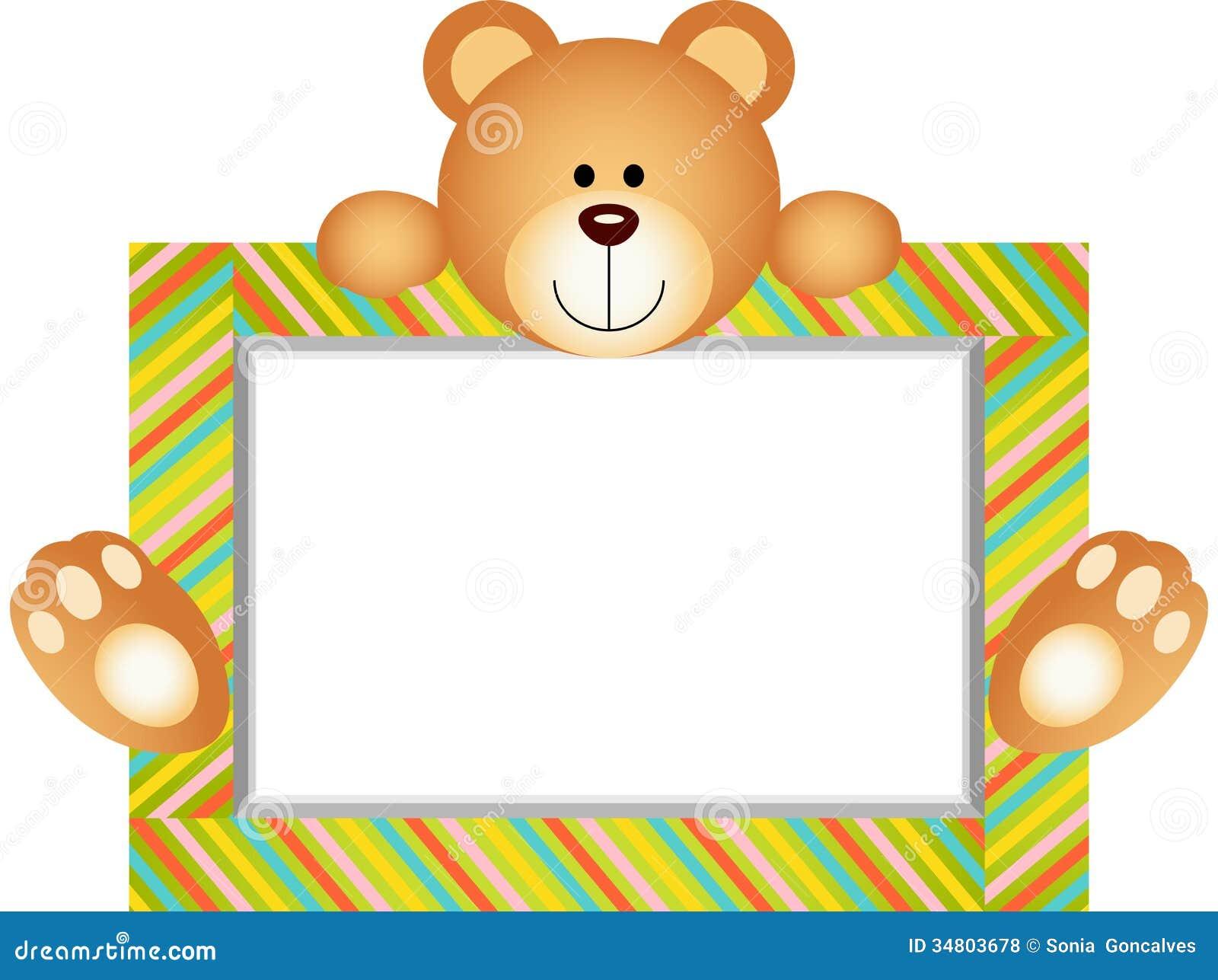 Teddy Bear With Blank Label Royalty Free Stock Photos