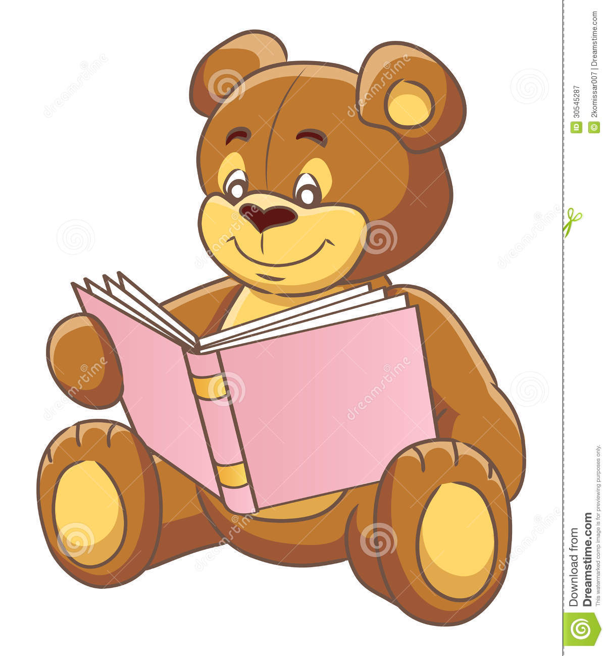 Teddy bear and book stock vector. Image of studying - 30545287 - photo#11