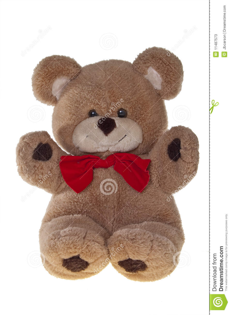 Teddy Bear With Bow Tie, Isolated On White Stock Photos ...
