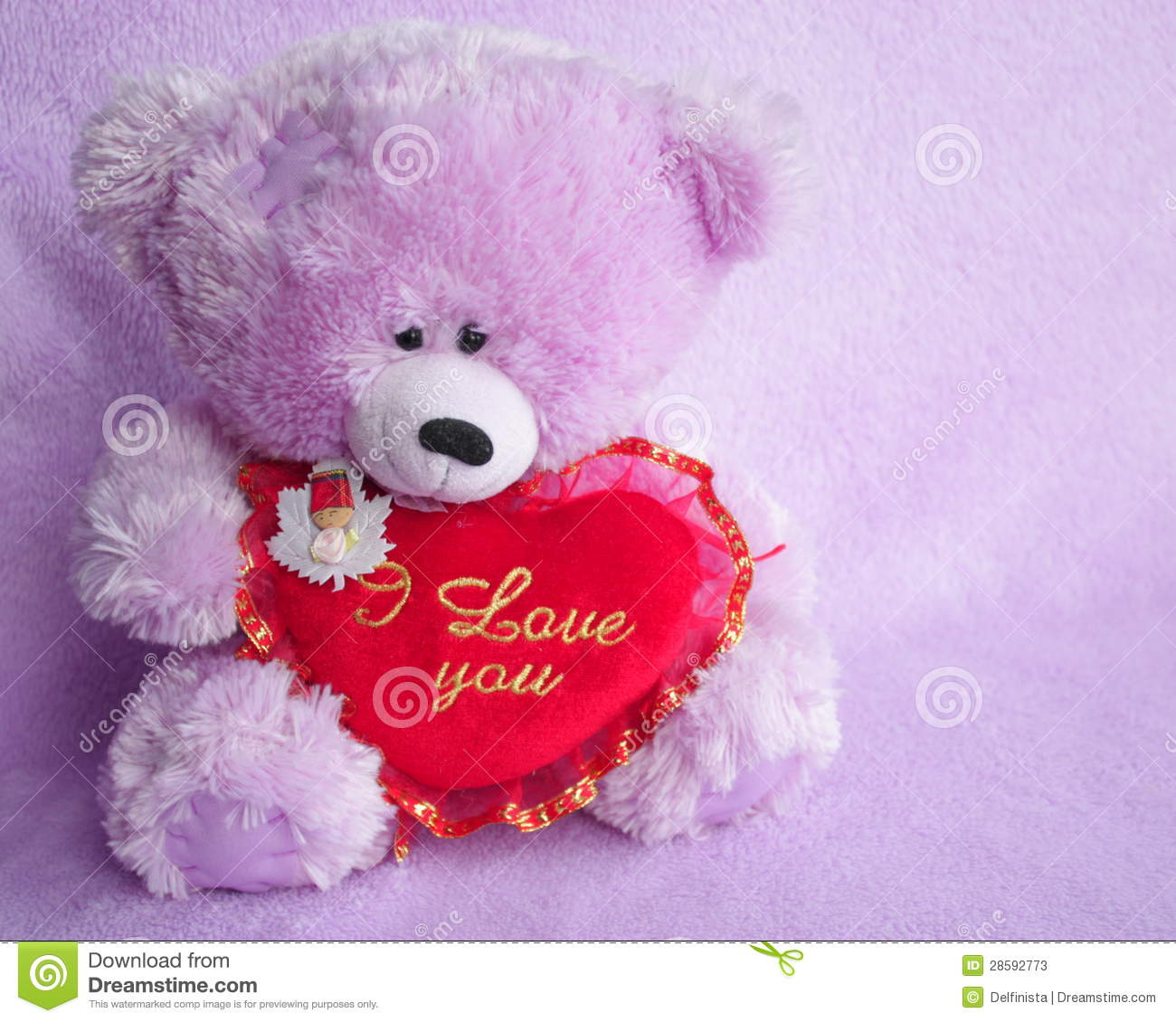 Teddy bear card with red love heart stock photo stock image teddy bear card with red love heart stock photo altavistaventures Images