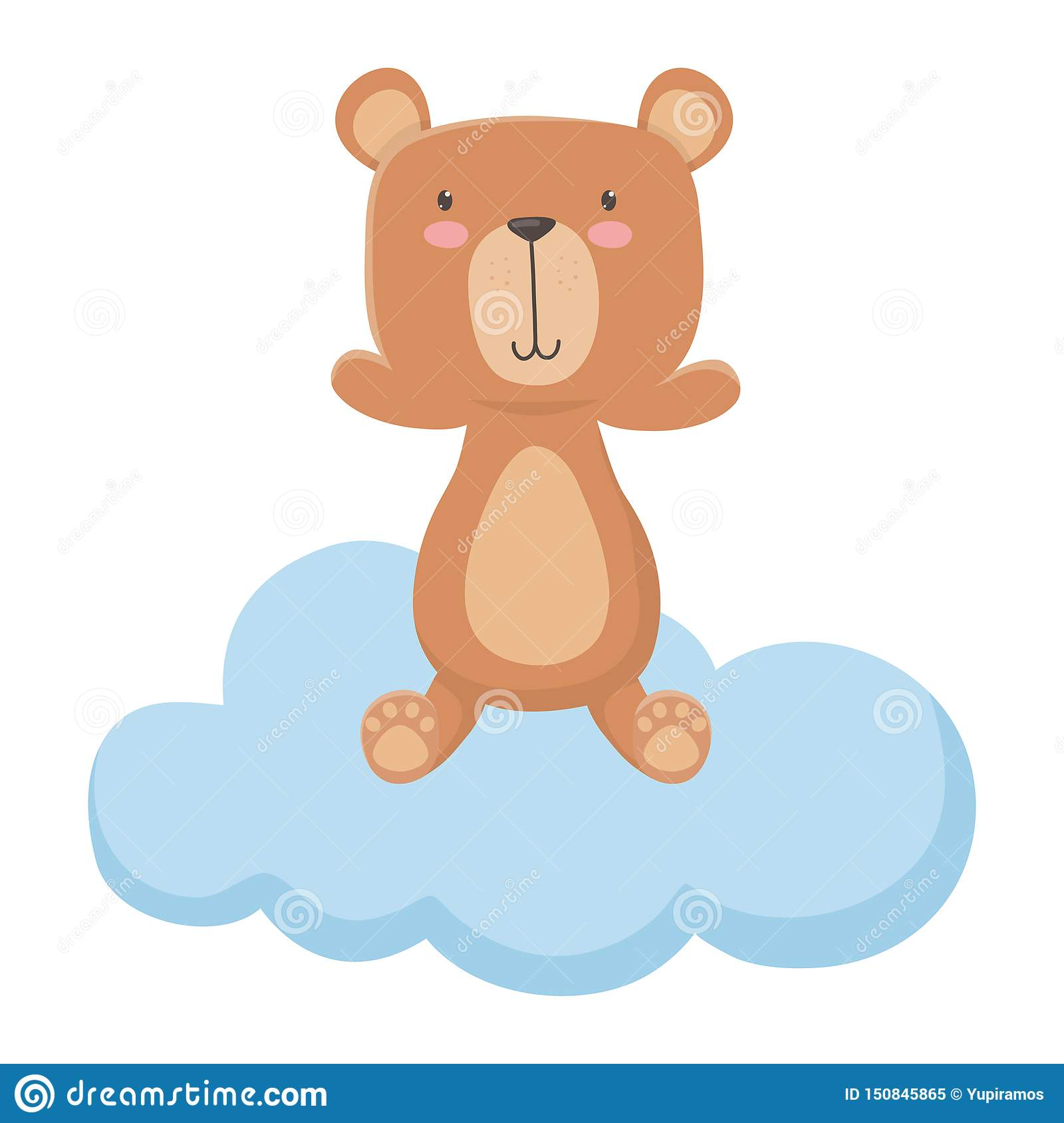 Teddy bear cartoon design vector illustration