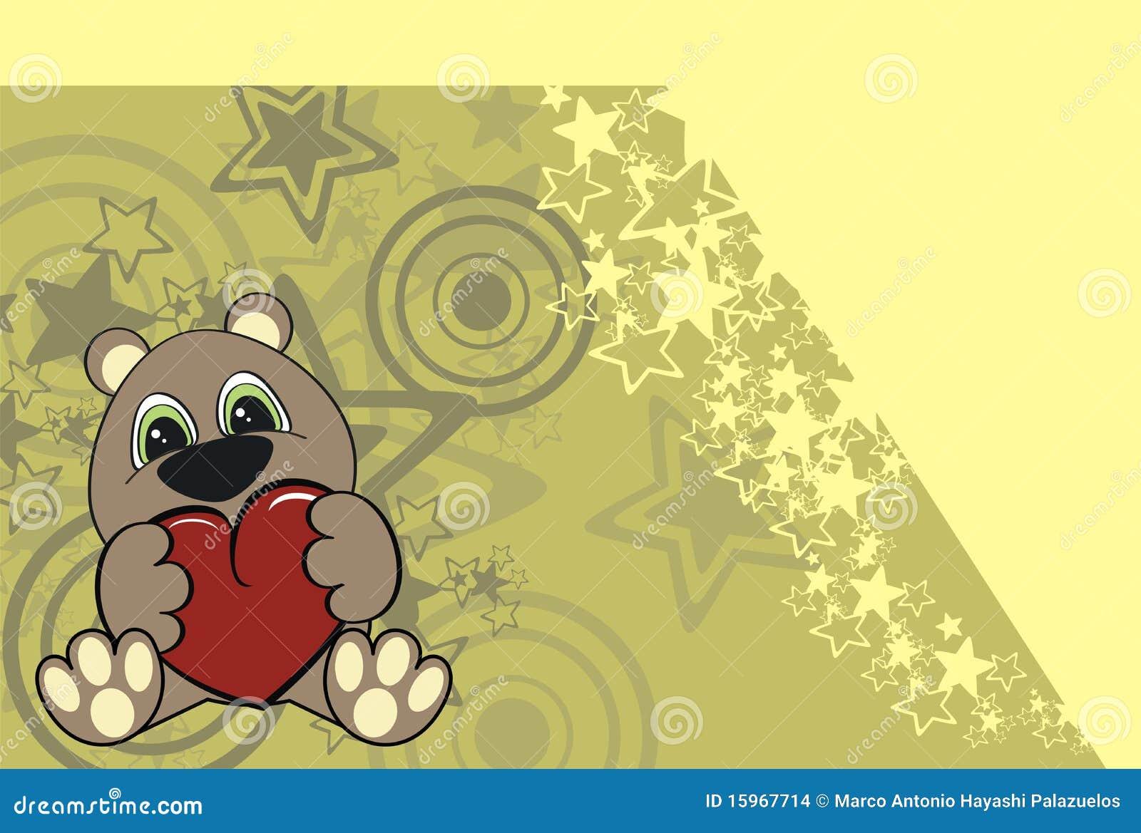 Teddy bear cartoon valentine background