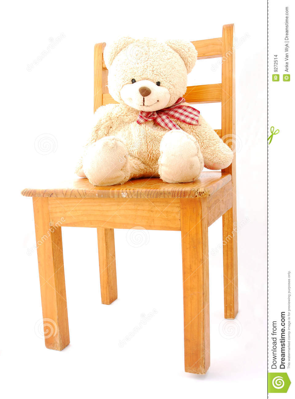 teddy bear on chair stock photo image of bear smiles 9272514. Black Bedroom Furniture Sets. Home Design Ideas