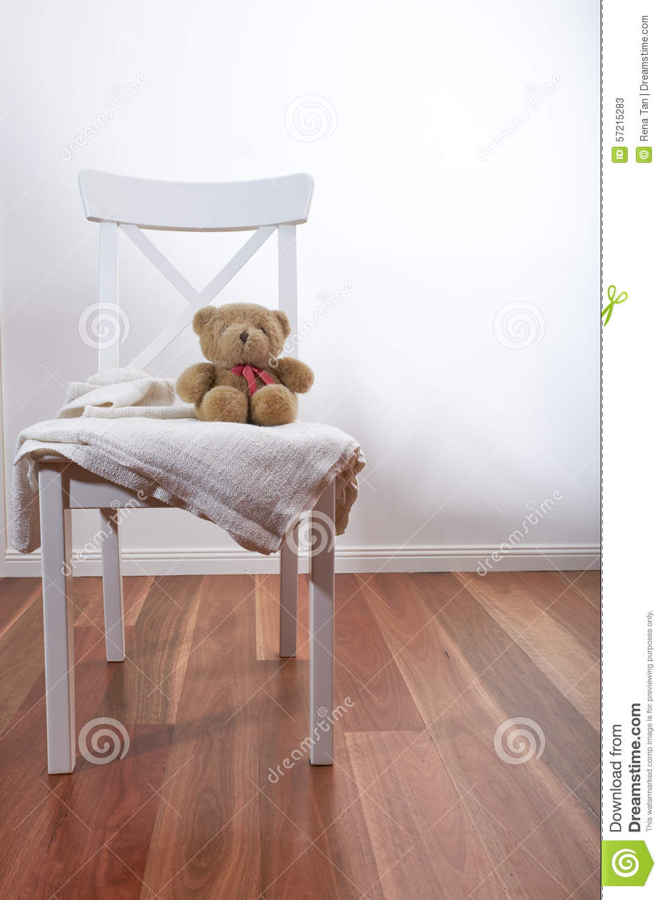 teddy bear on chair stock photo image 57215283. Black Bedroom Furniture Sets. Home Design Ideas