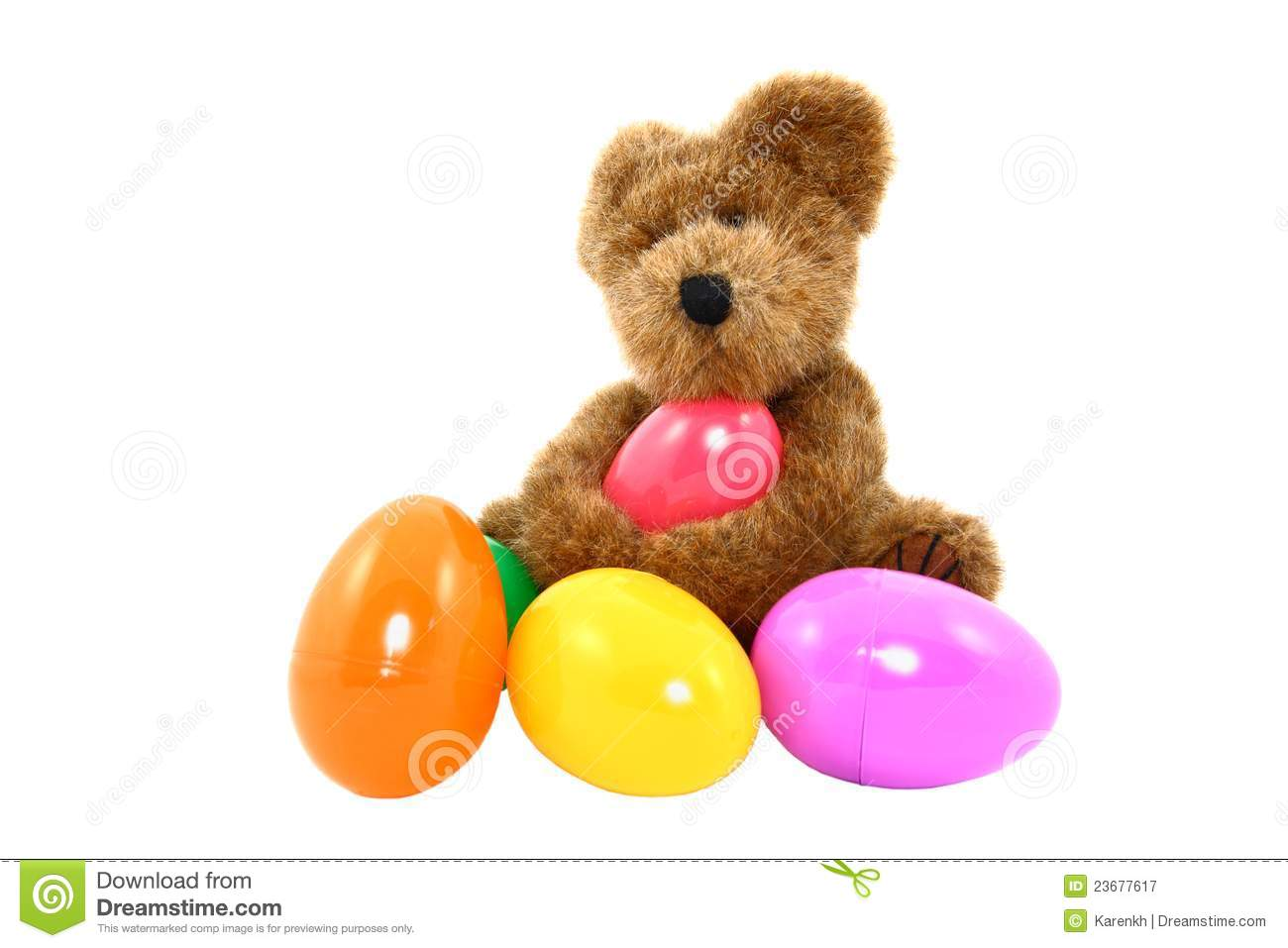 Teddy Bear With Colorful Easter Eggs Royalty Free Stock ... - photo#32