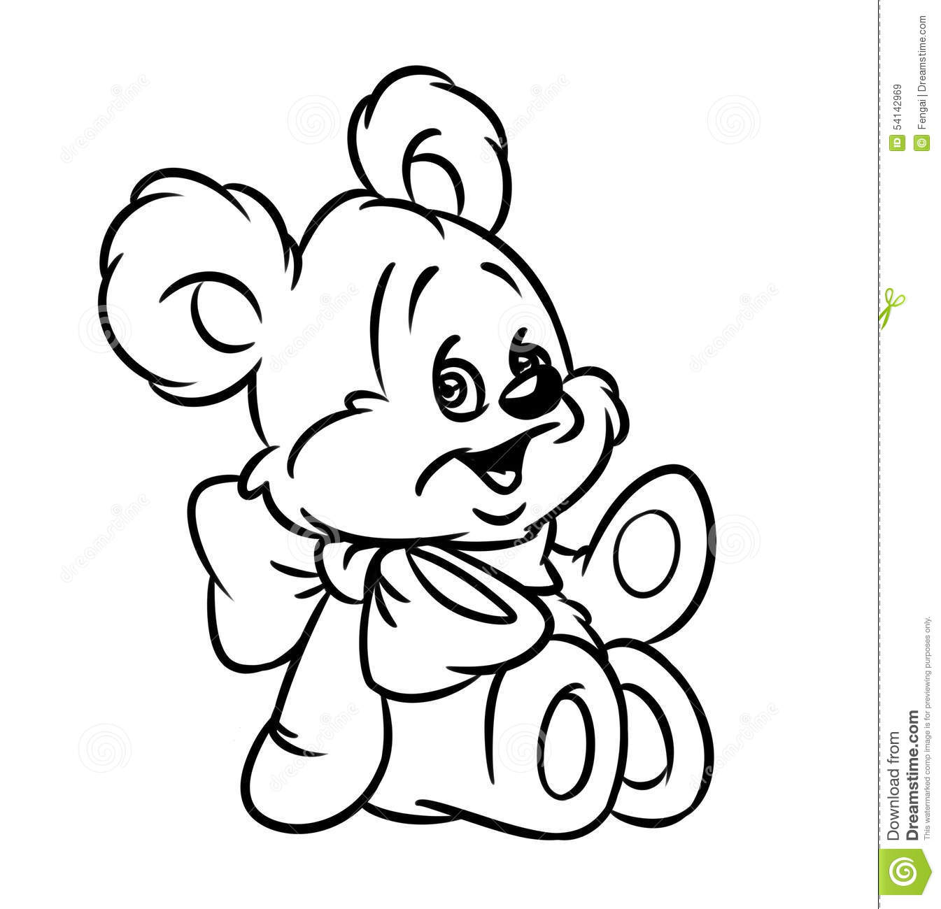 cartoon teddy bear coloring pages - photo#22