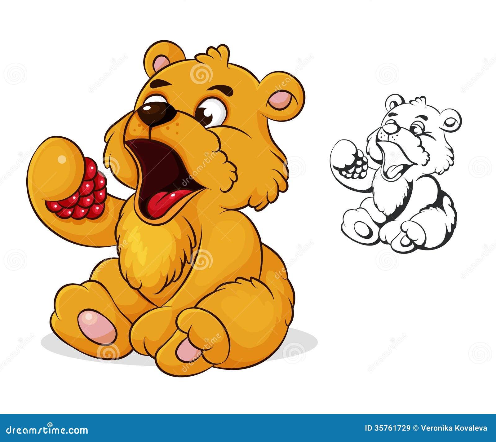 teddy bear eats raspberries royalty free stock images Teddy Bear Baby Cub Black Bear Cubs