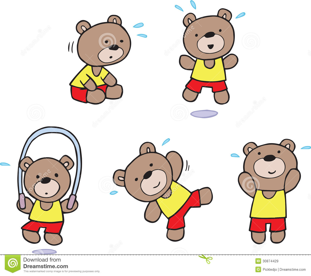 teddy bear exercise workout at the gym royalty free stock clip art teddy bears black and white clip art teddy bear free