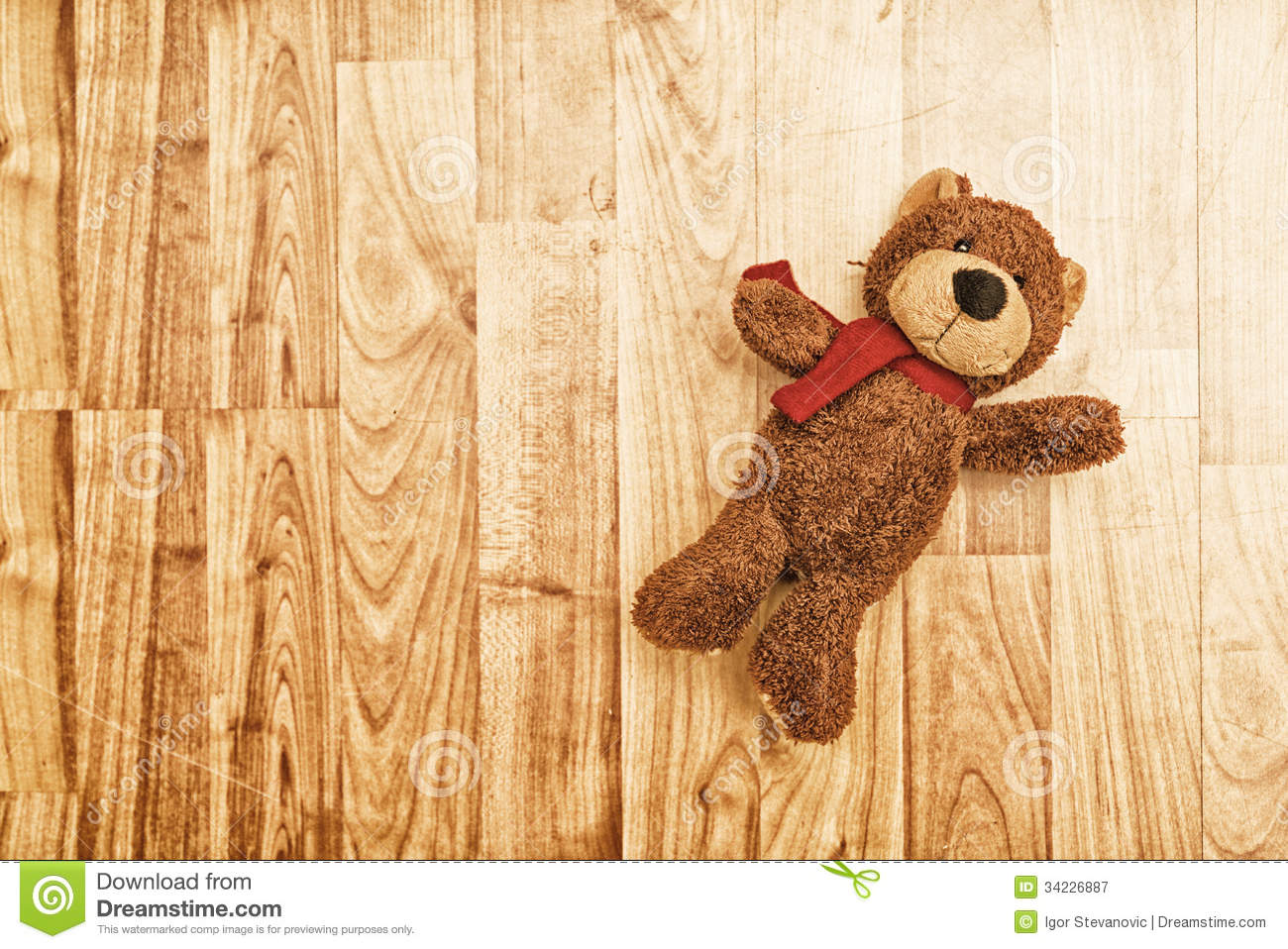 teddy bear on the floor stock image image of children