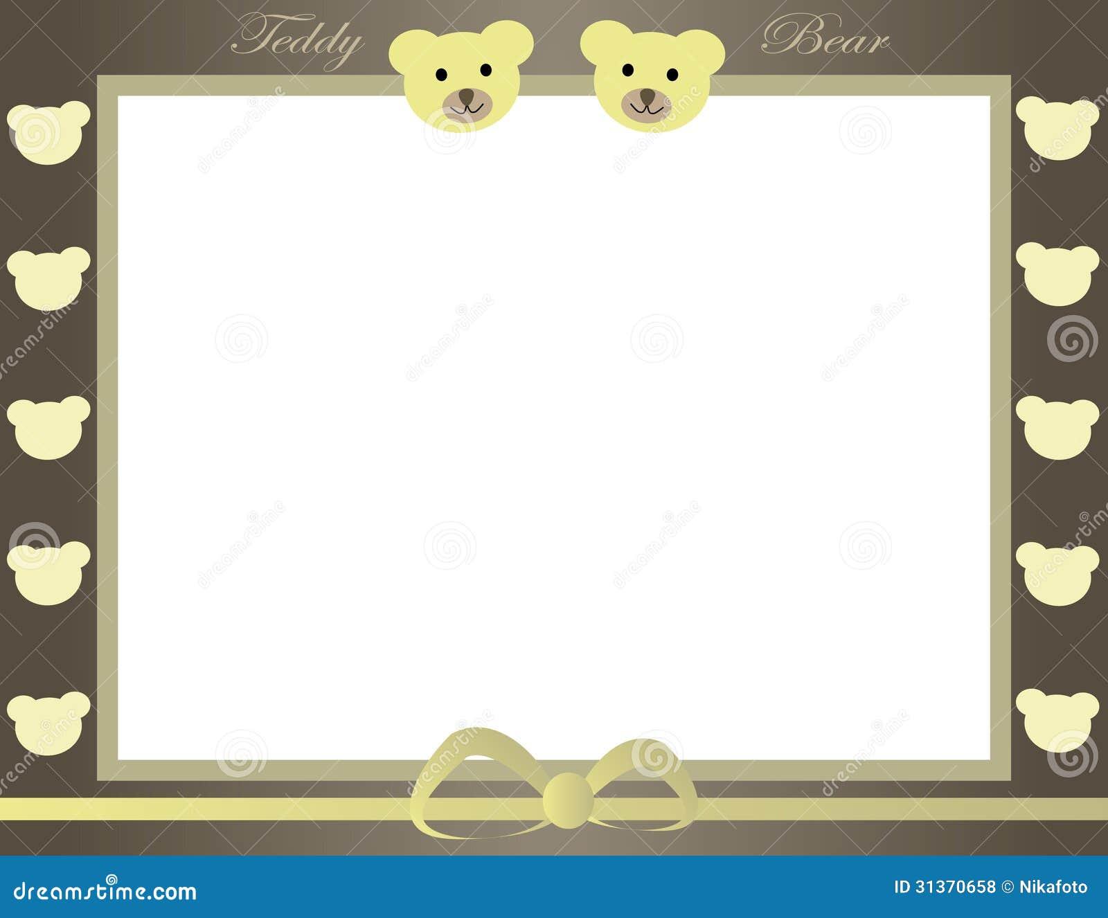 Teddy bear frame stock vector. Illustration of deliver - 31370658