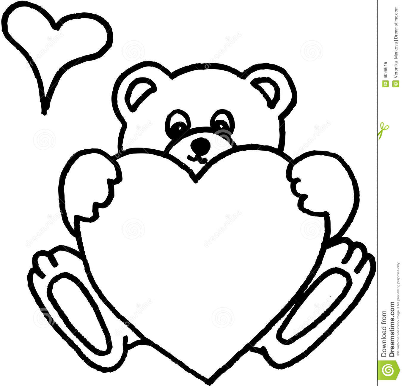 Teddy Bear With Heart Stock Illustration Illustration Of