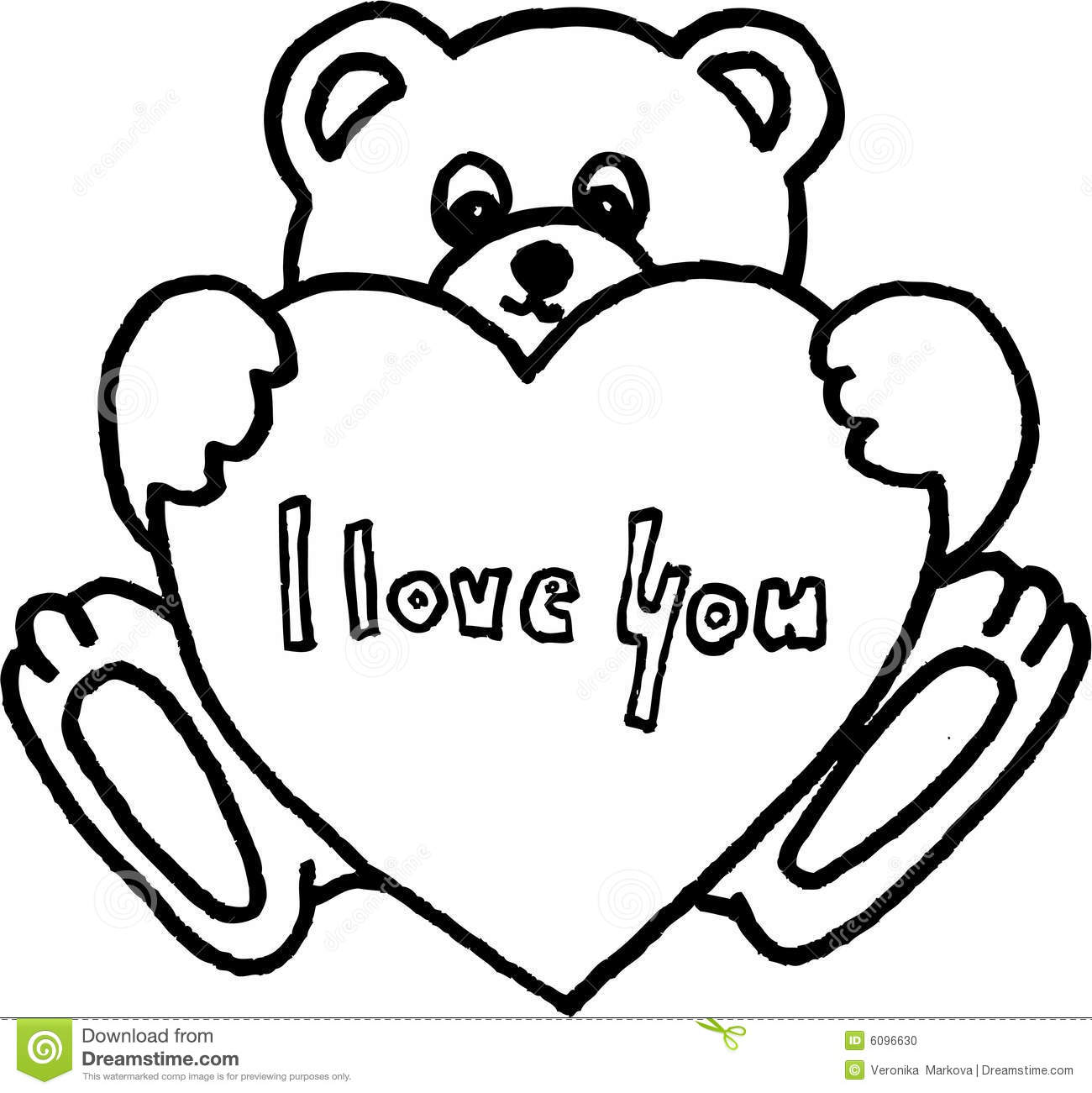 Teddy Bear With Heart Stock Photo Image 6096630