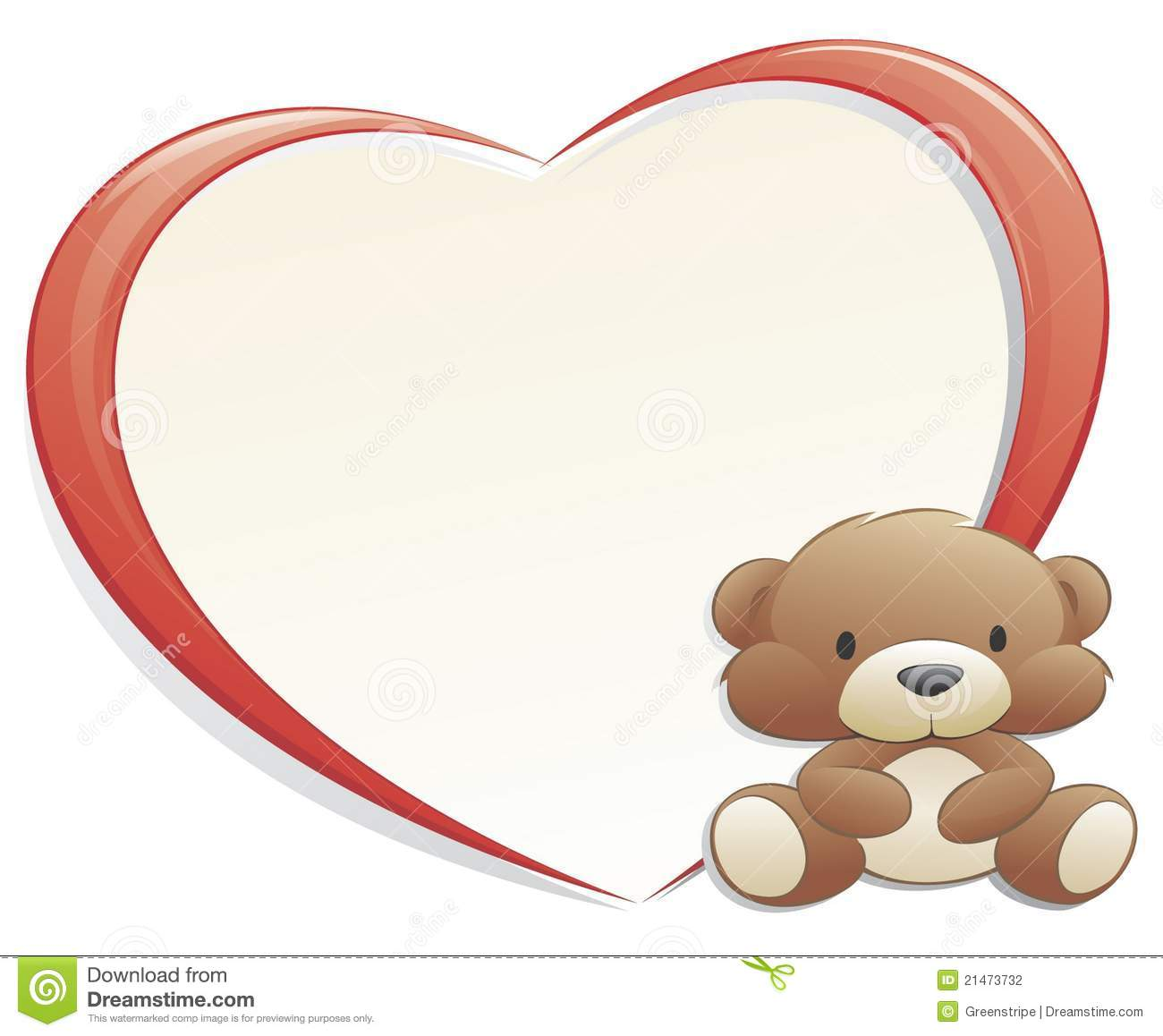 teddy bear with heart shaped frame