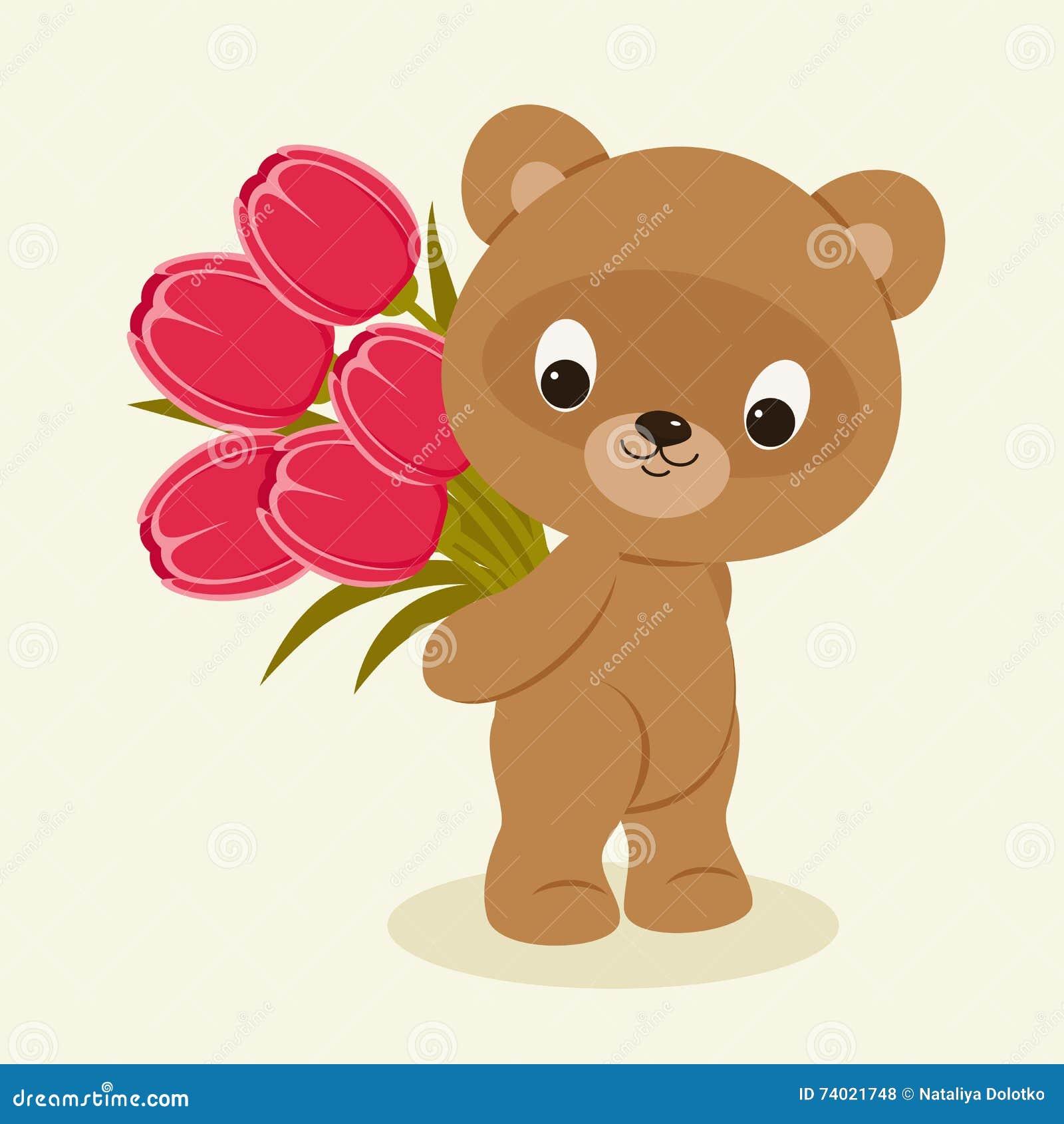 Teddy Bears Holding Flowers Cartoon Wiring Diagrams