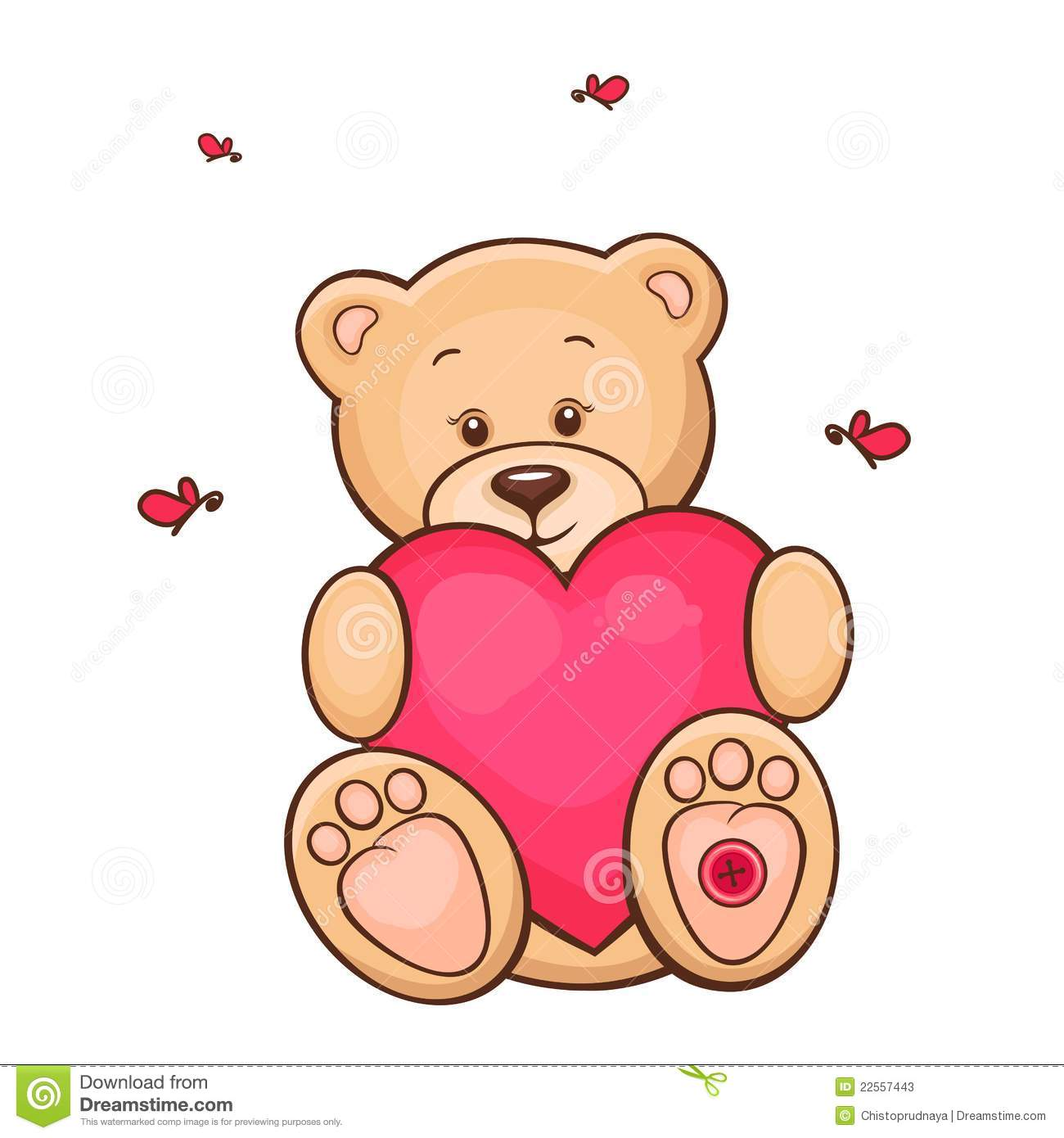 Teddy Bear With Red Heart Stock Photos Image 22557443