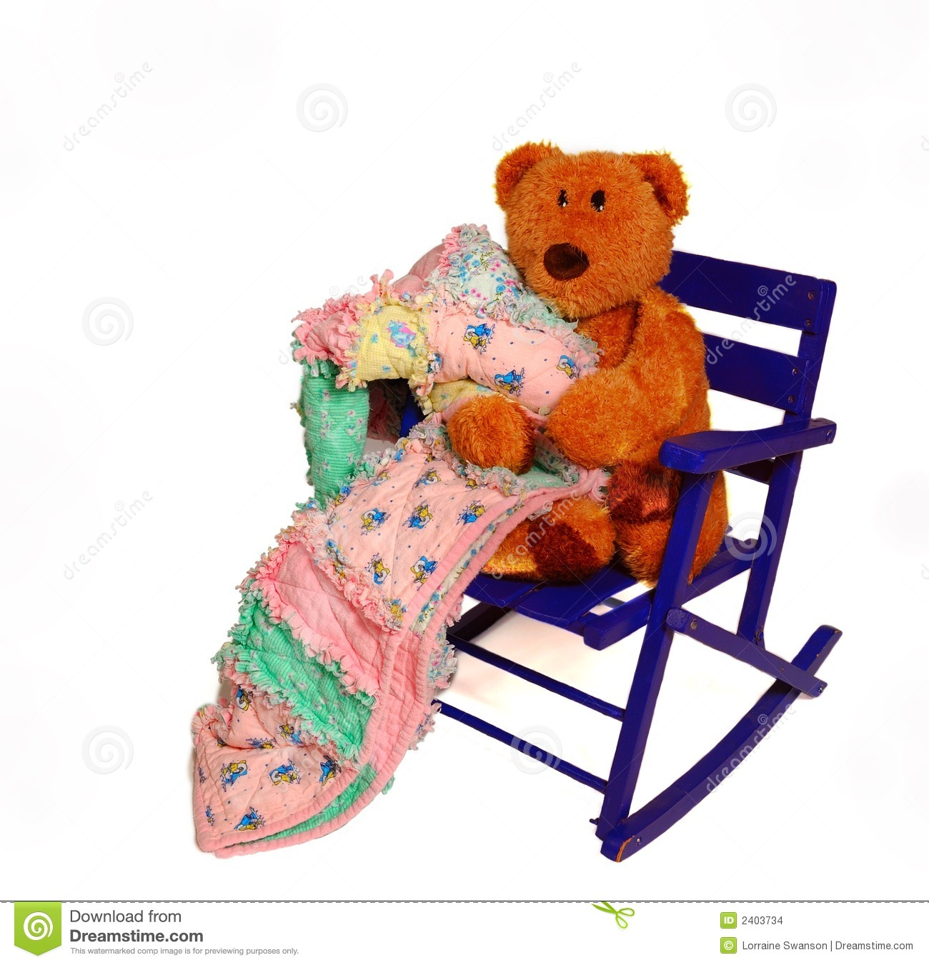 Teddy Bear And Rocking Chair Stock Images Image 2403734