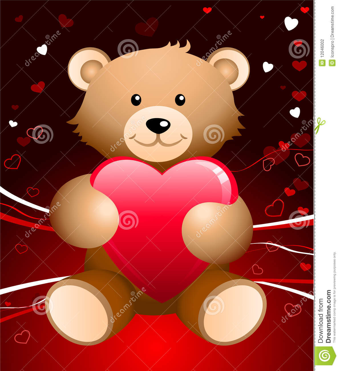 Teddy Bear Romantic Valentine S Day Background