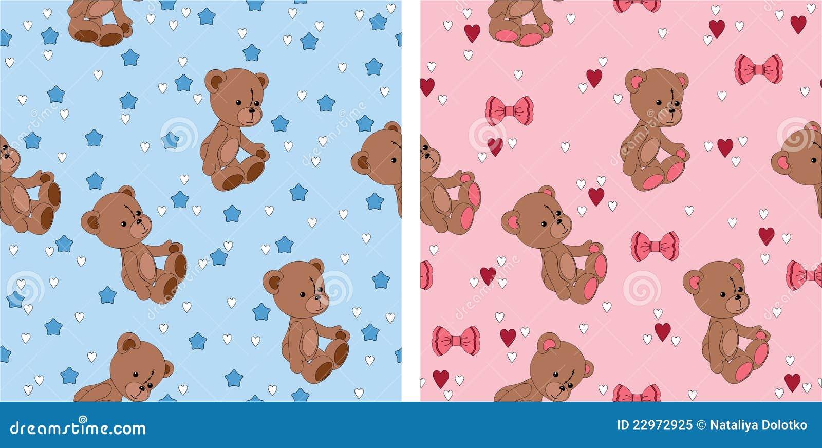 Teddy Bear Seamless Wallpapers