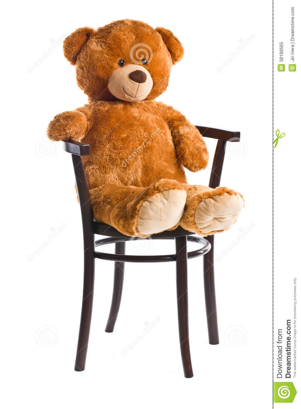 teddy bear sitting on a chair stock image image 38189565. Black Bedroom Furniture Sets. Home Design Ideas