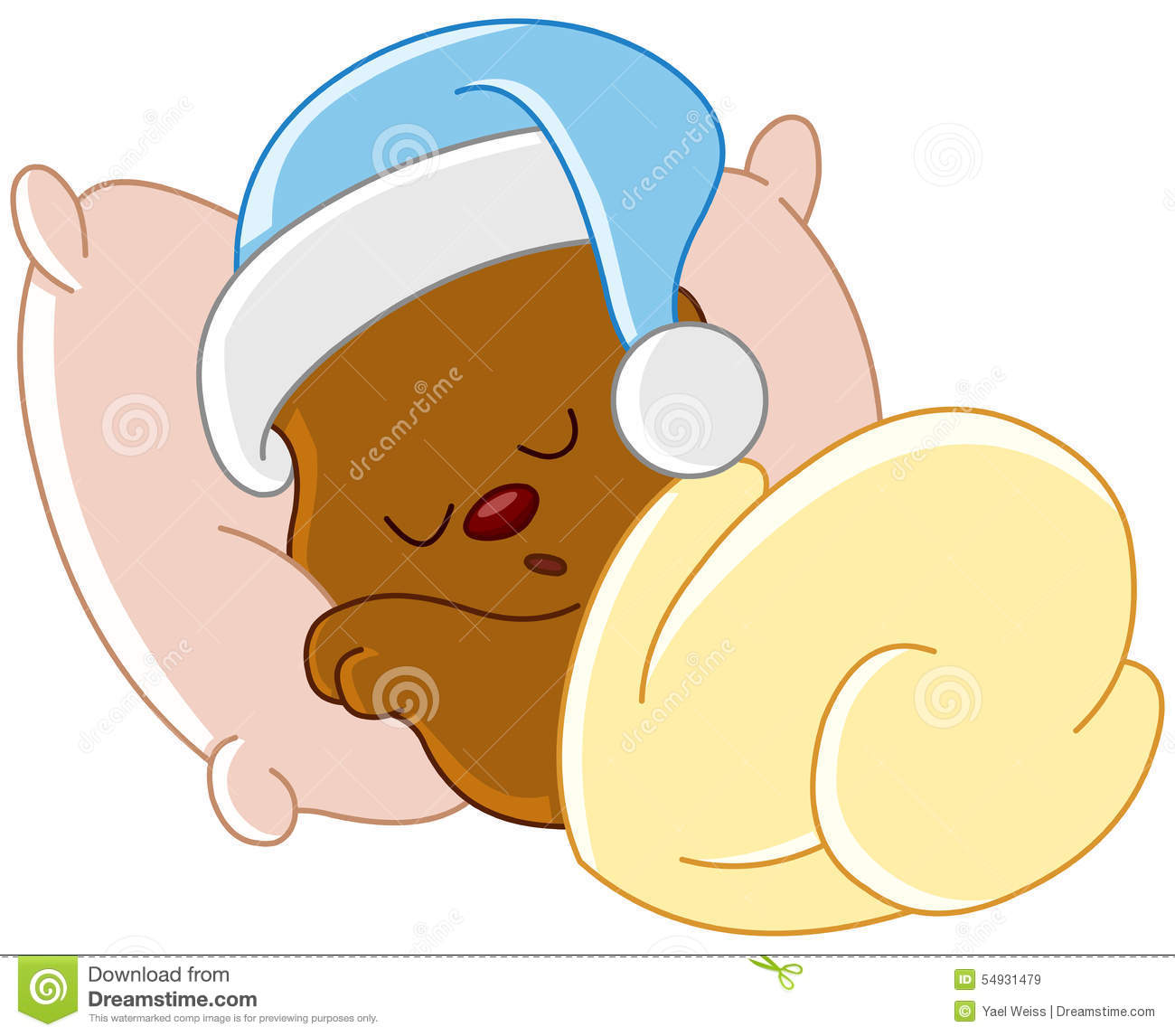 Teddy Bear Sleeping Stock Vector Image 54931479