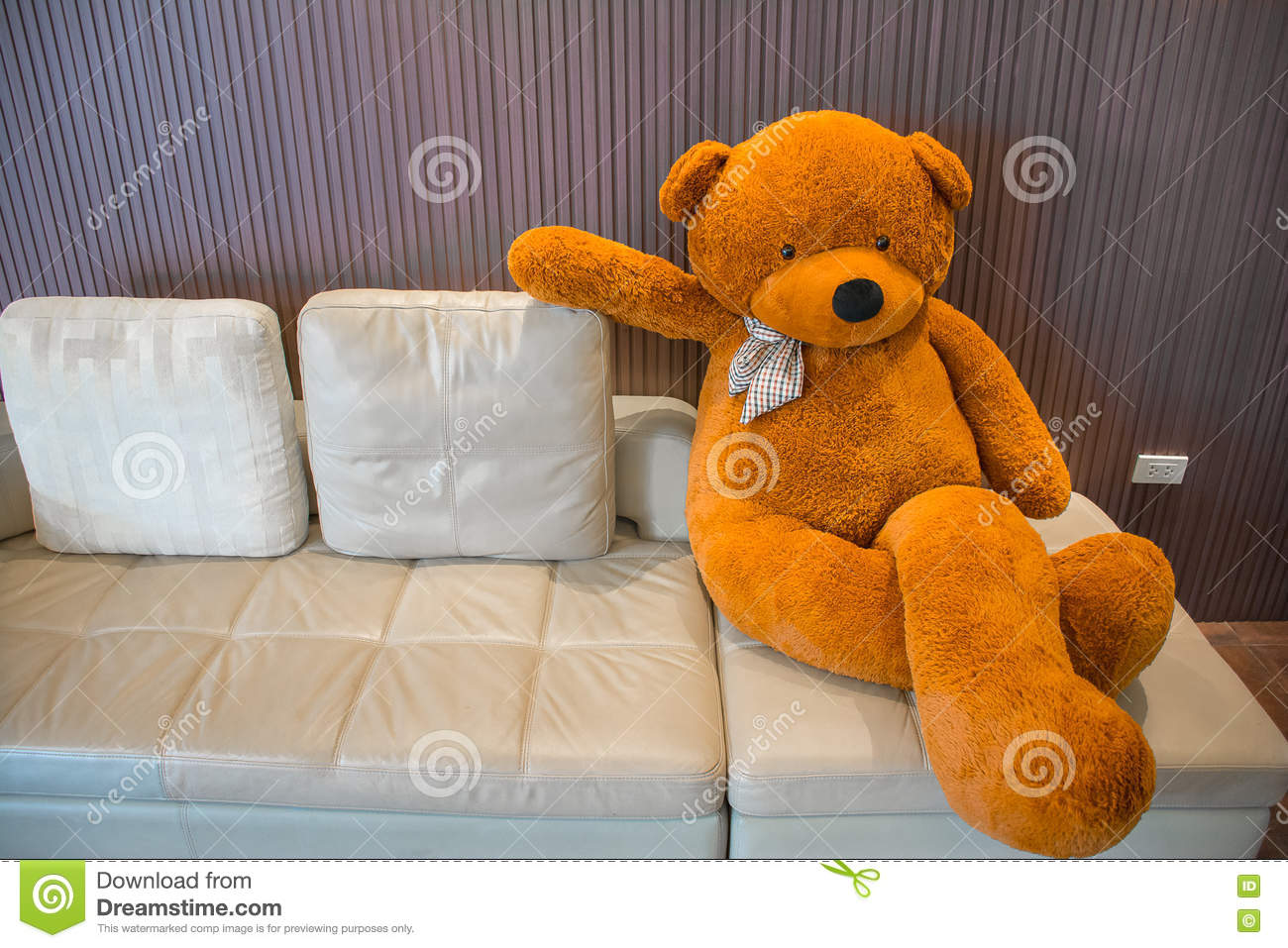 Fantastic Teddy Bear On The Sofa Stock Image Image Of Holiday 71744693 Interior Design Ideas Inesswwsoteloinfo