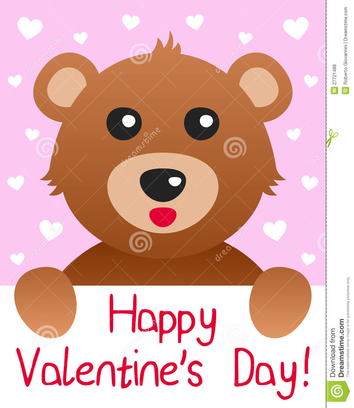 Teddy Bear Valentine S Day Card Royalty Free Photos Image – Saint Valentine Card