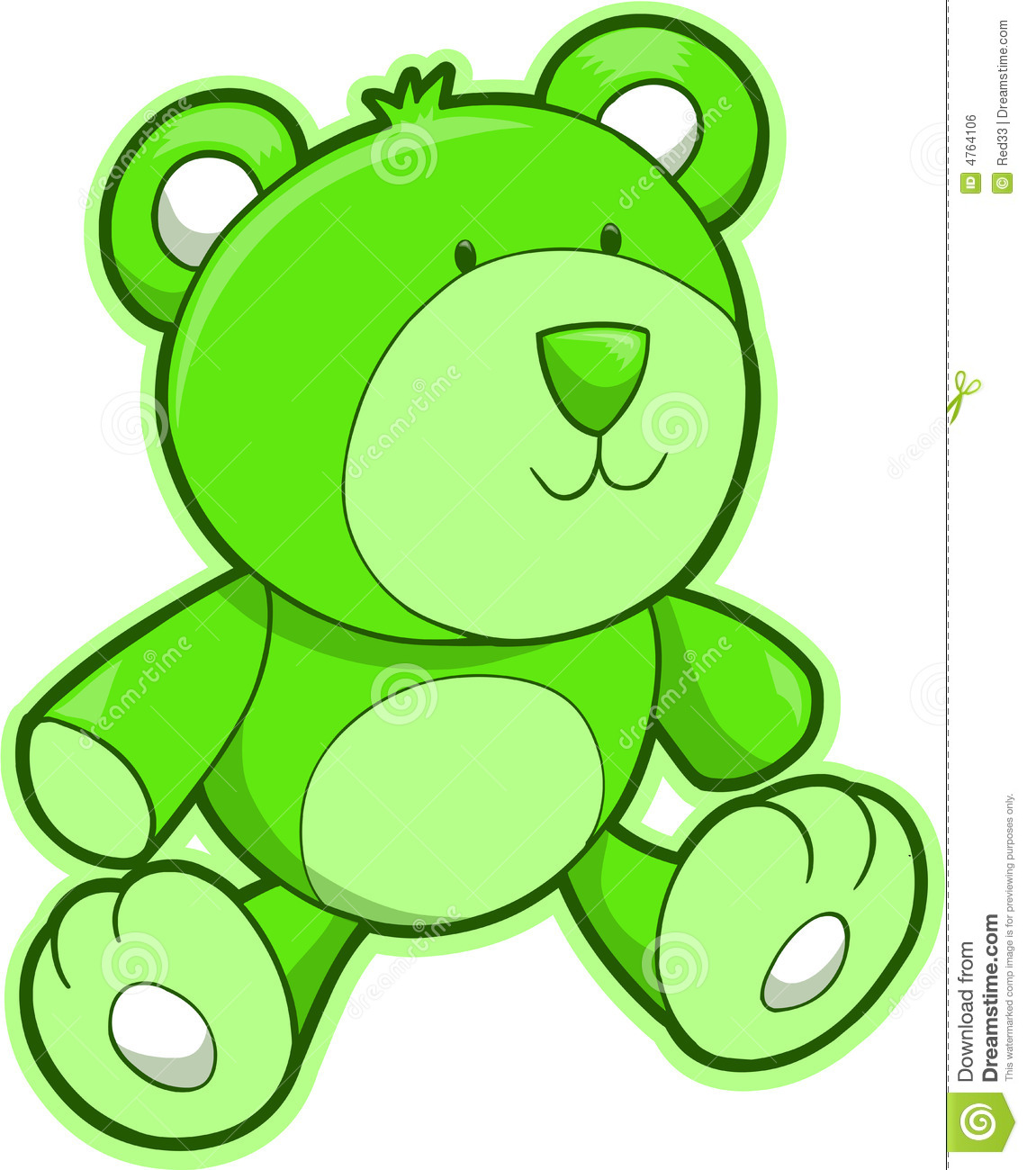 teddy bear vector royalty free stock image   image 4764106