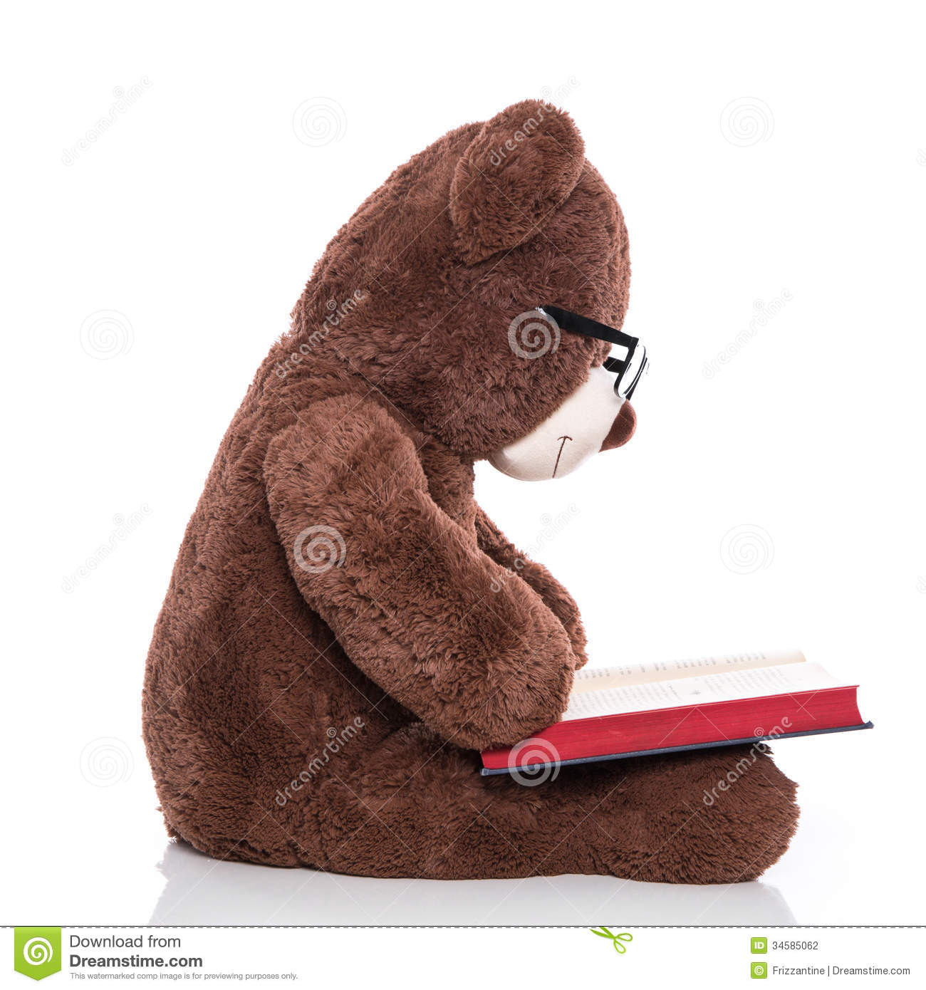 Teddy Bear Reading Royalty Free Stock Image - Image: 8201636