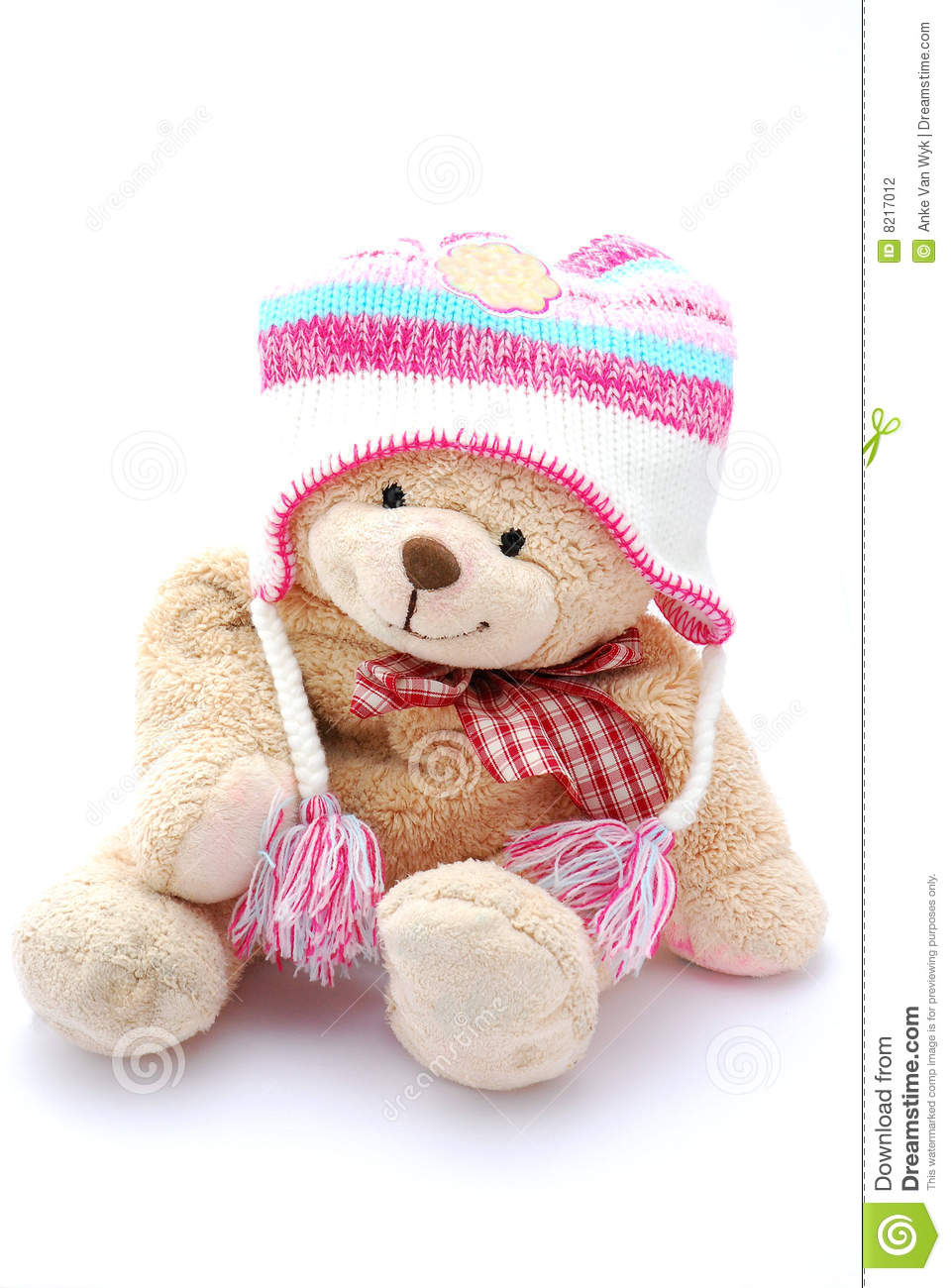 teddy bear in winter clothes stock photo  image of bear