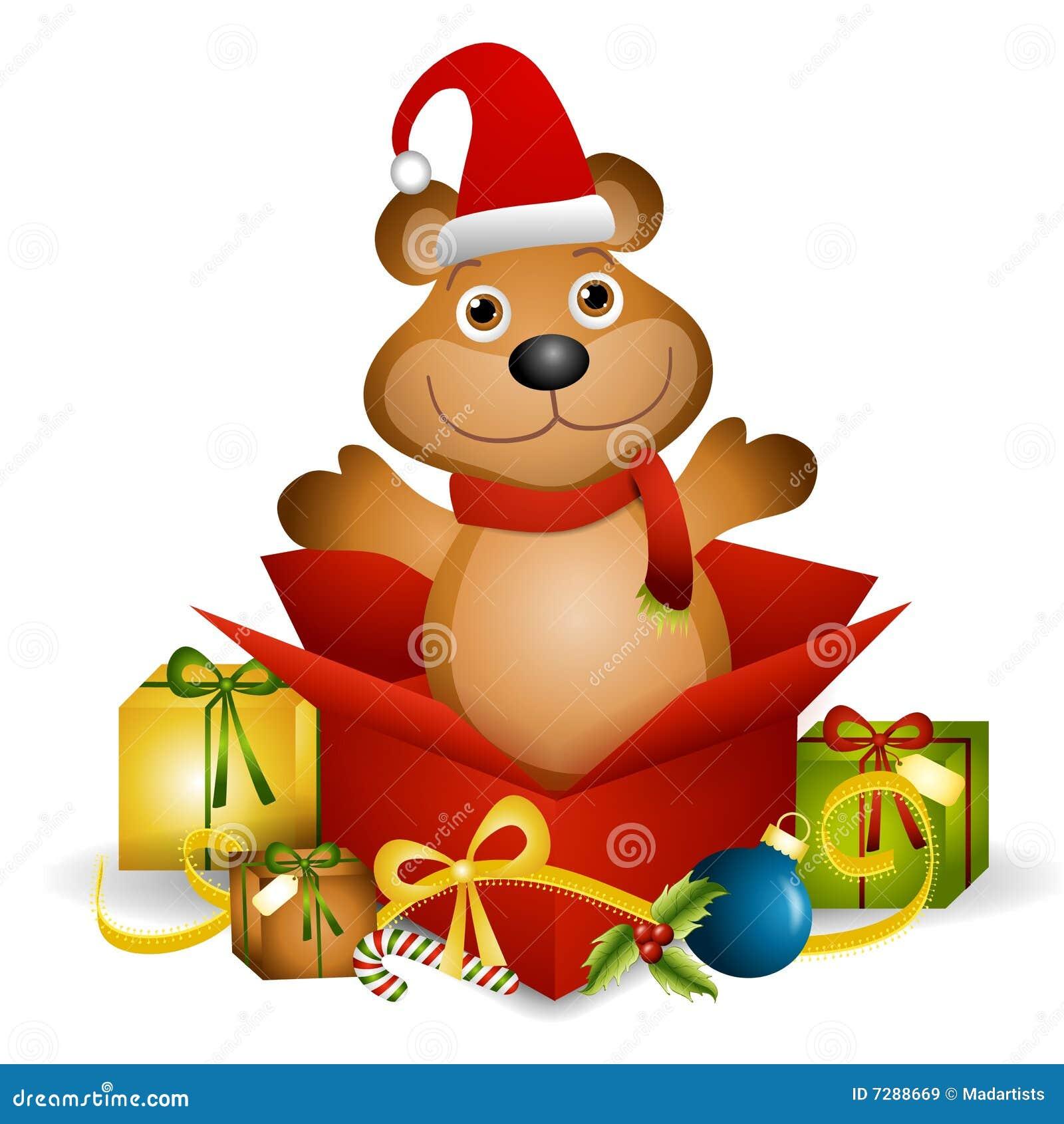 Teddy Bear Xmas Gift Royalty Free Stock Images Image