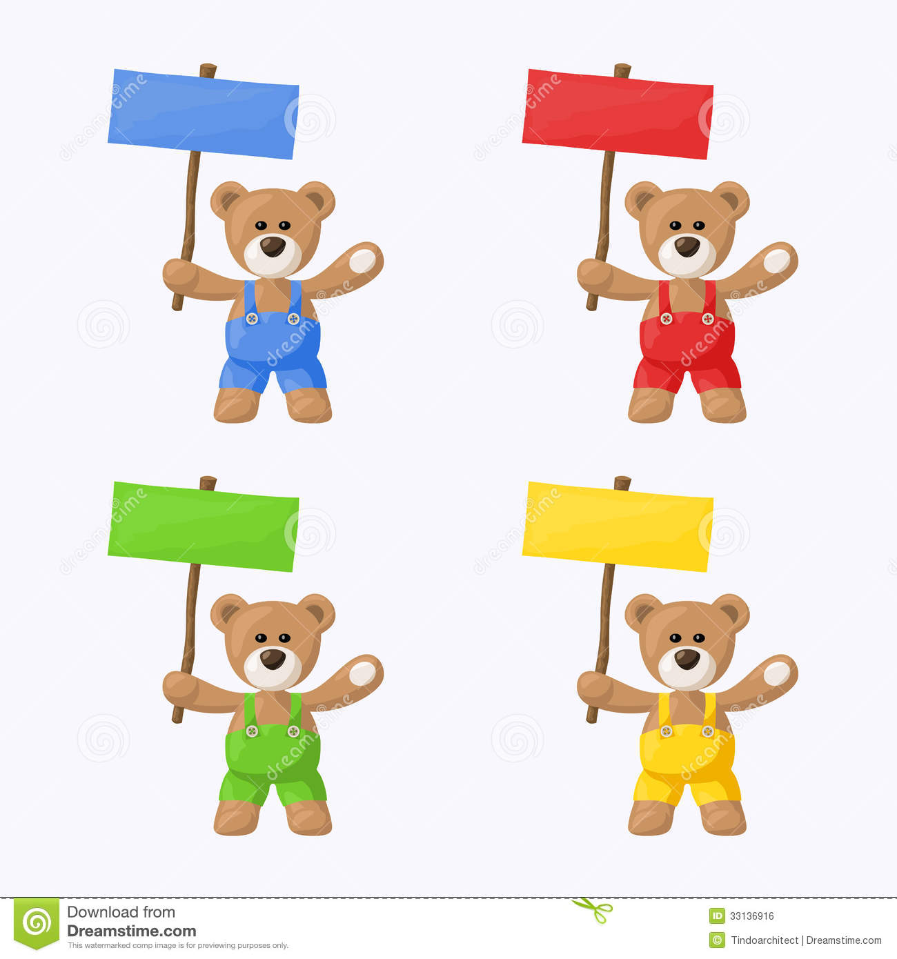 Teddy Bears With Colored Signboards Royalty Free Stock Image - Image ...