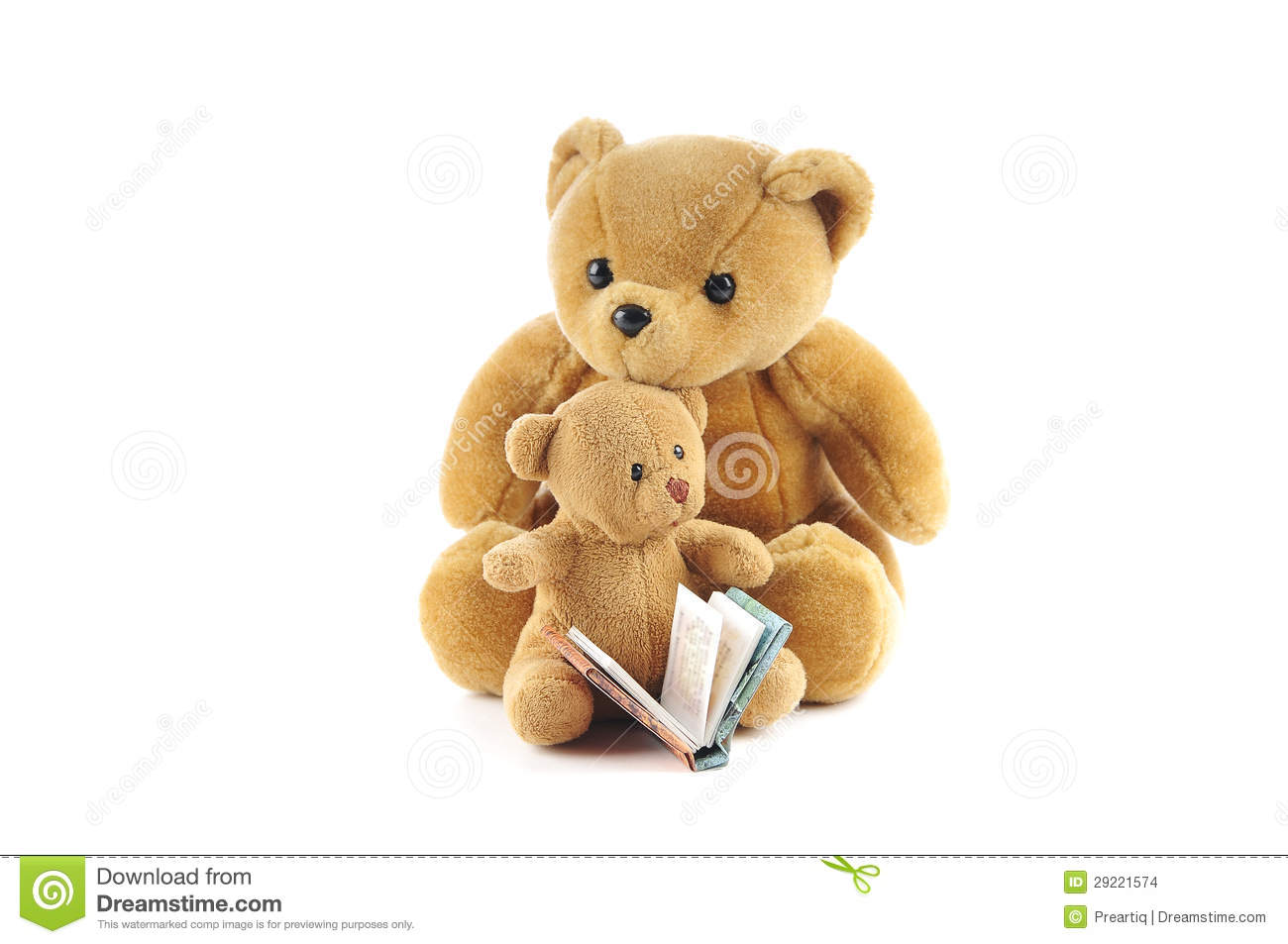 Teddy Bears And A Story Book Stock Images - Image: 29221574