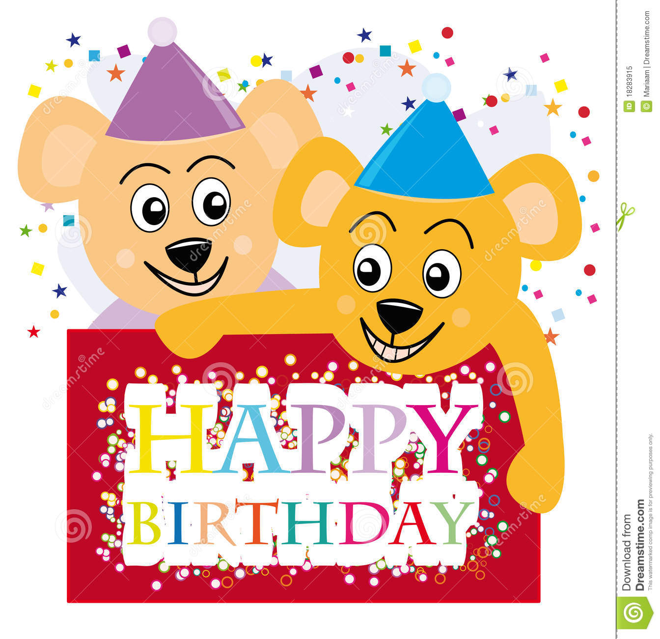 Teddy Bears Wishing A Happy Birthday Royalty Free Stock Photo ...