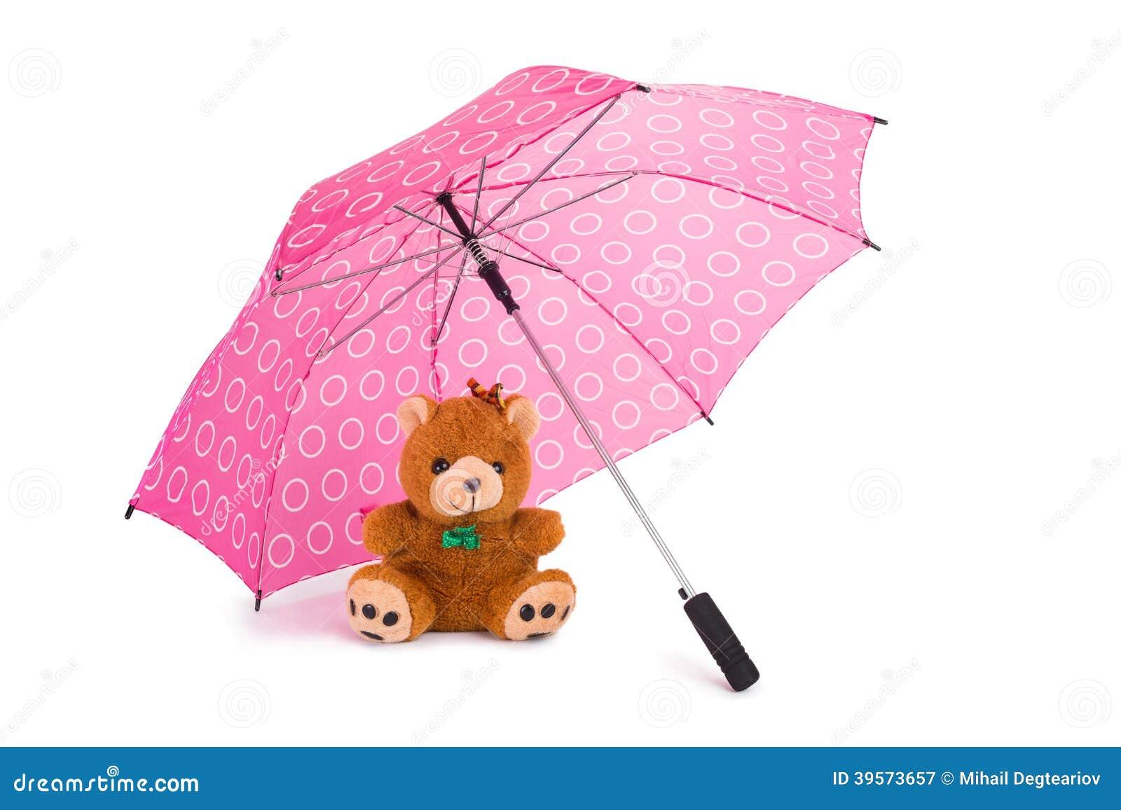 Teddy Beear Under Umbrella