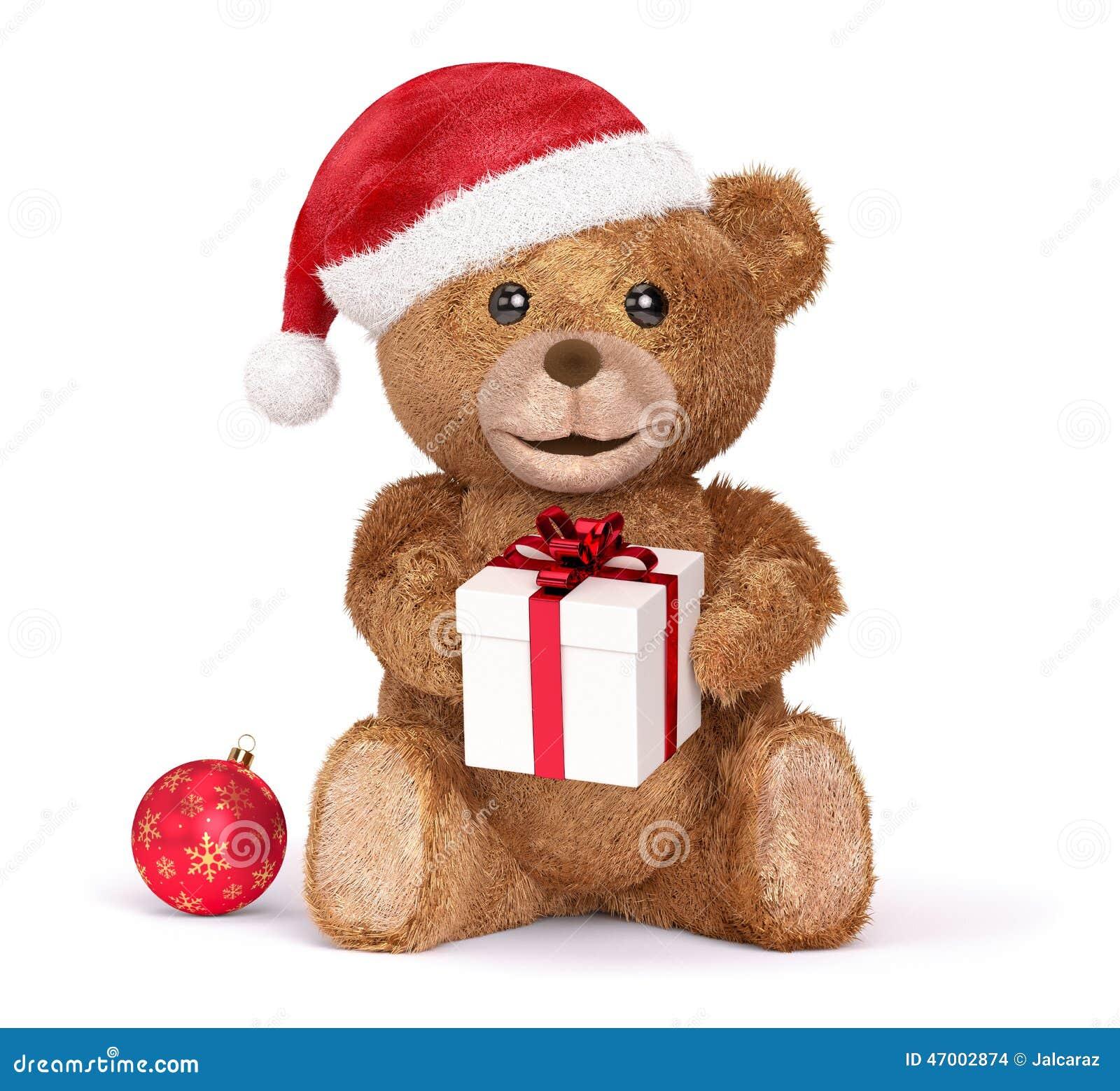 Teddy Weihnachten.Teddy With A Christmas Stock Photo 47002874 Megapixl