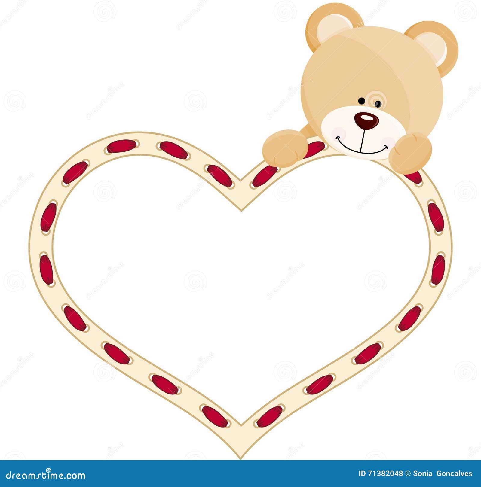 Teddybär mit Herzen