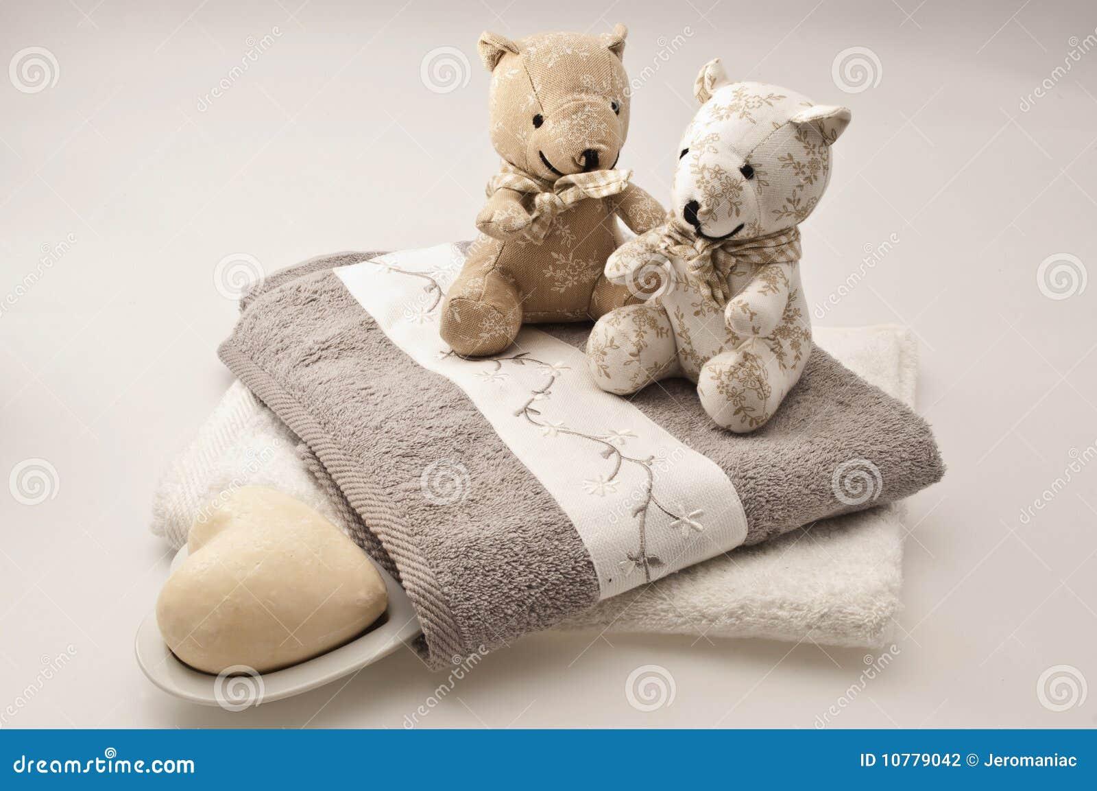 Teddyberen en badconcept